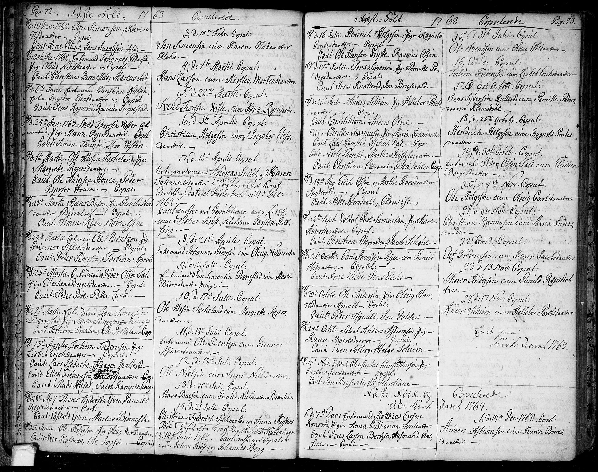 SAO, Tune prestekontor Kirkebøker, F/Fa/L0002: Ministerialbok nr. 2, 1758-1781, s. 72-73