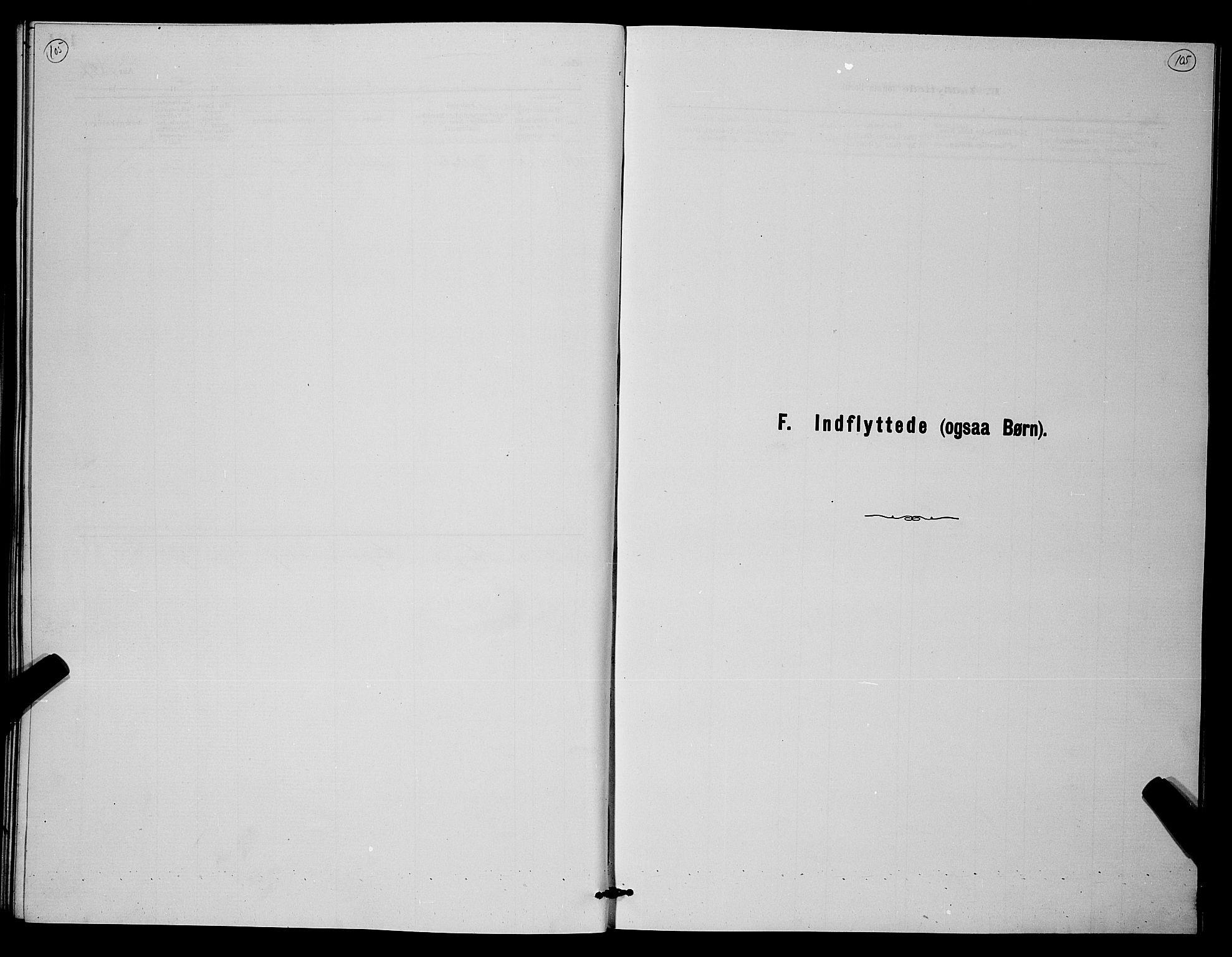 SAKO, Holla kirkebøker, G/Gb/L0001: Klokkerbok nr. II 1, 1882-1897, s. 105