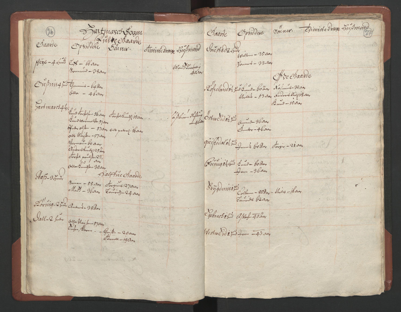 RA, Fogdenes og sorenskrivernes manntall 1664-1666, nr. 9: Mandal len, 1664-1666, s. 26-27