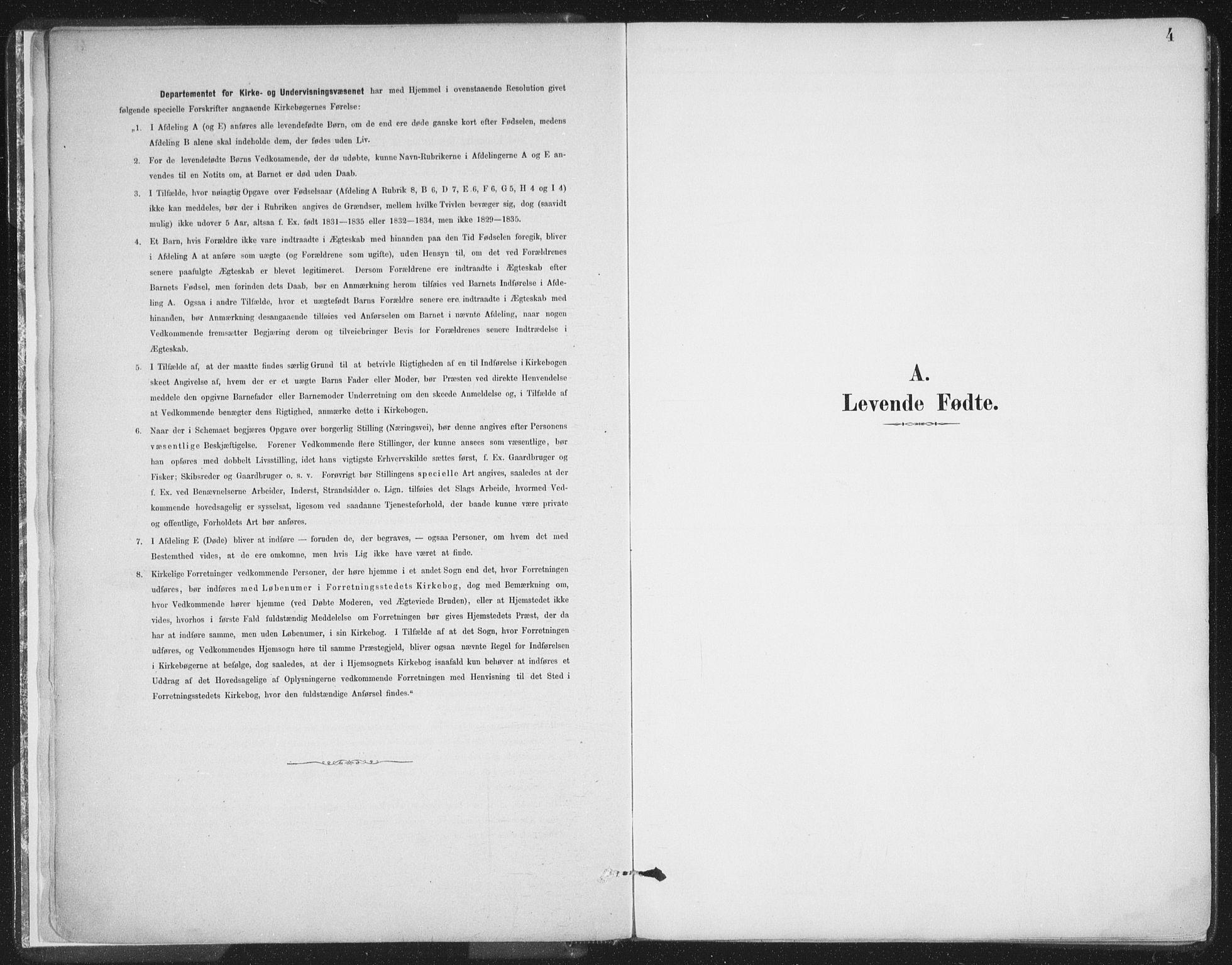 SATØ, Balsfjord sokneprestembete, Ministerialbok nr. 7, 1887-1909, s. 4