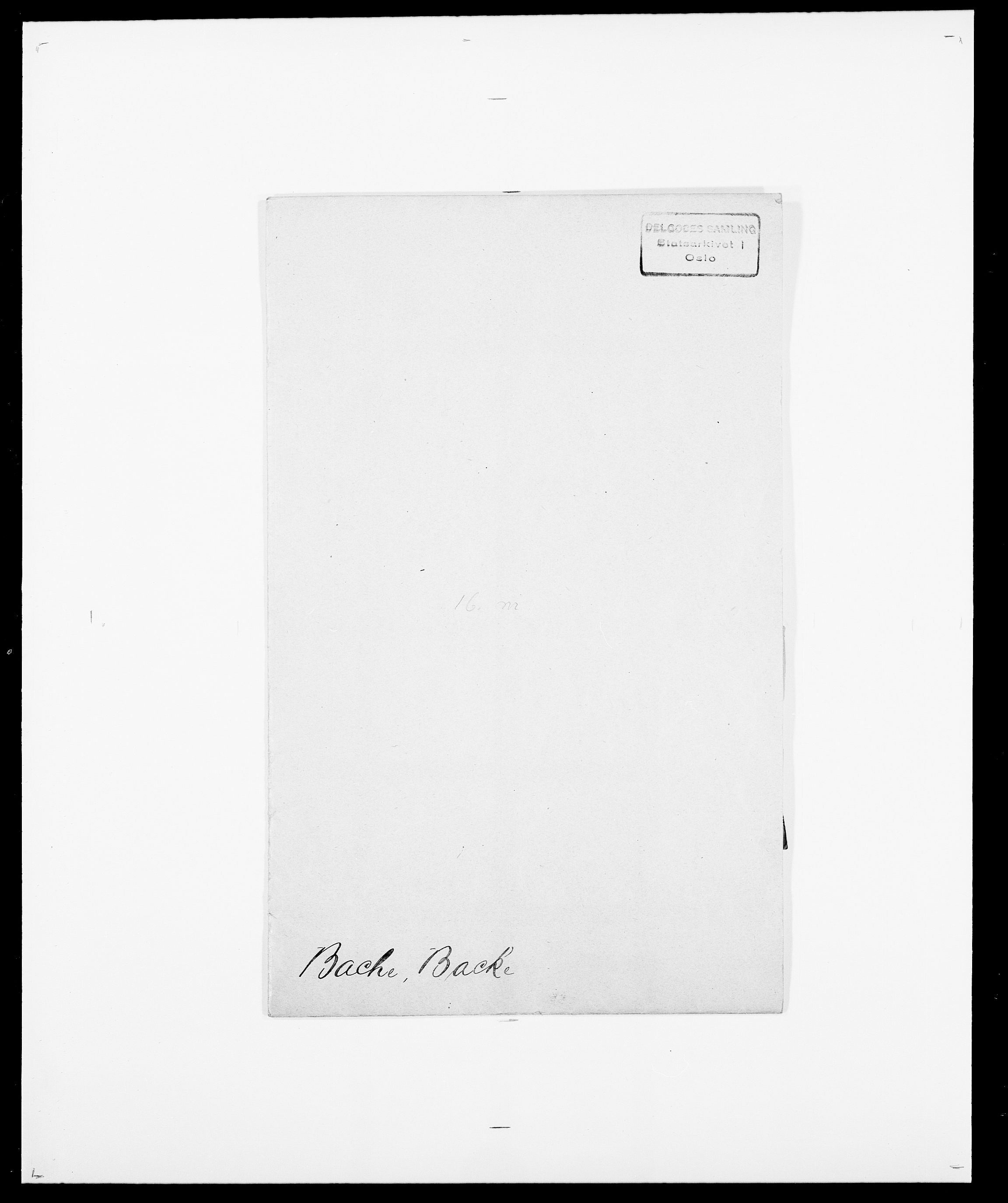 SAO, Delgobe, Charles Antoine - samling, D/Da/L0003: Barca - Bergen, s. 27