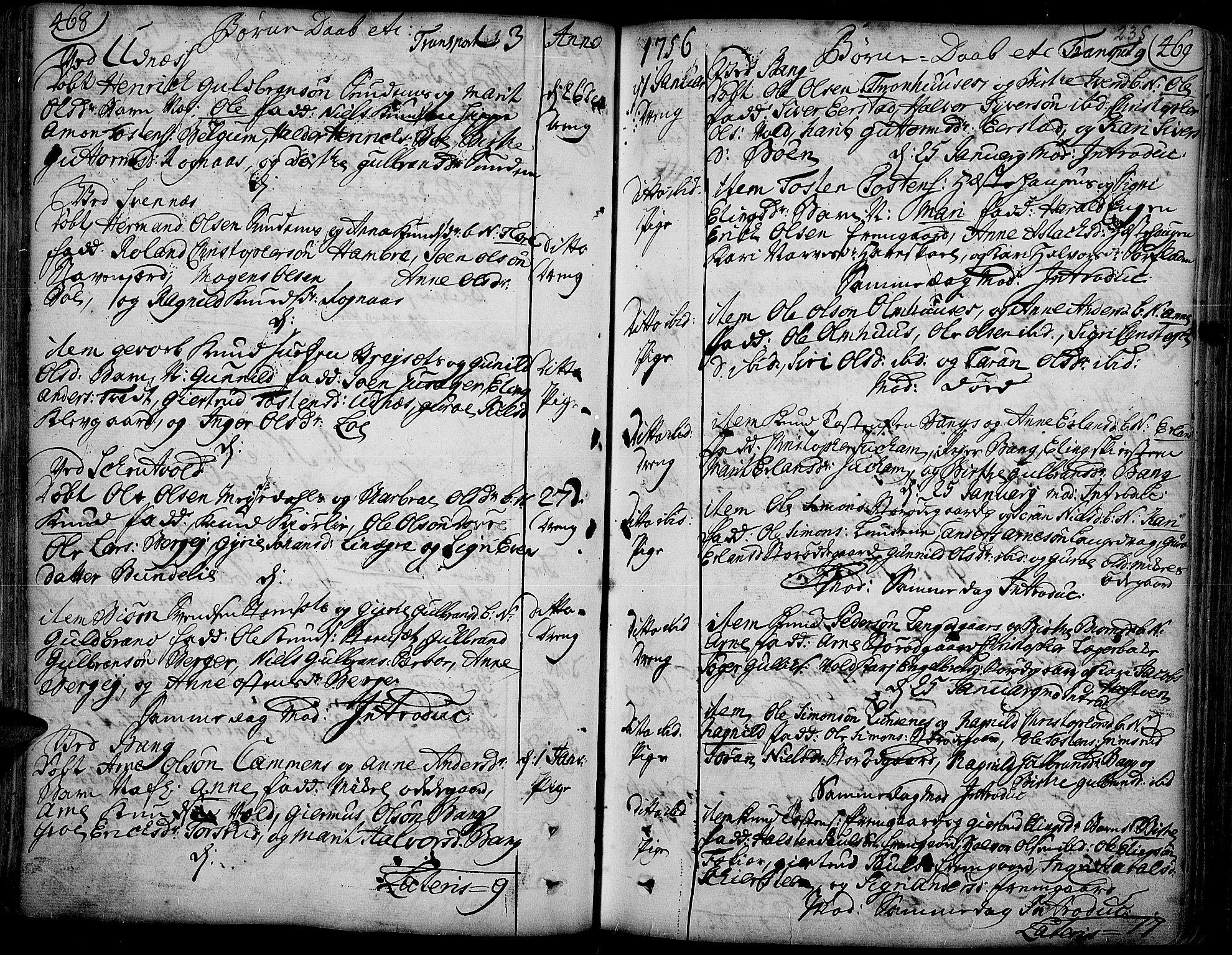 SAH, Aurdal prestekontor, Ministerialbok nr. 4, 1730-1762, s. 468-469