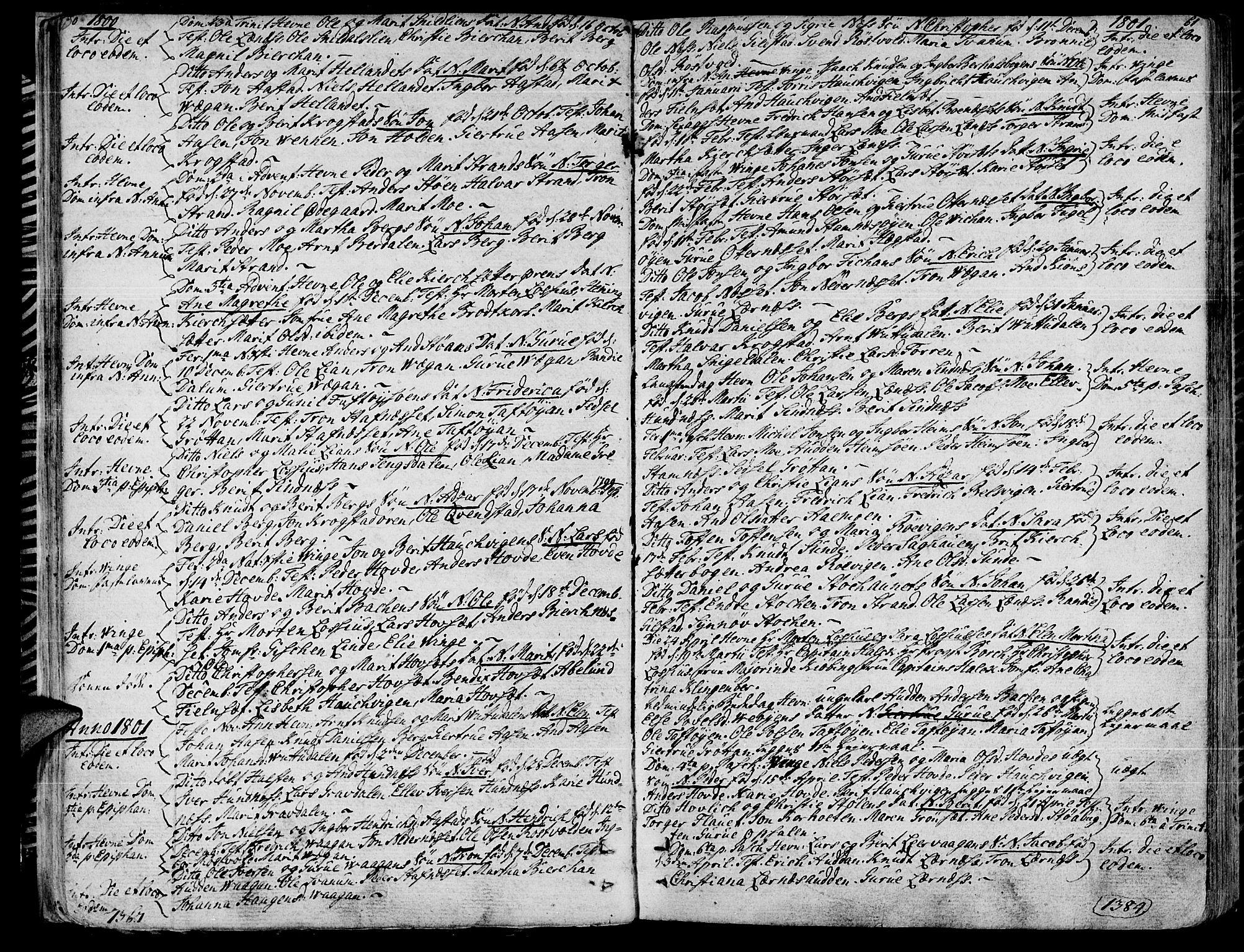 SAT, Ministerialprotokoller, klokkerbøker og fødselsregistre - Sør-Trøndelag, 630/L0490: Ministerialbok nr. 630A03, 1795-1818, s. 60-61