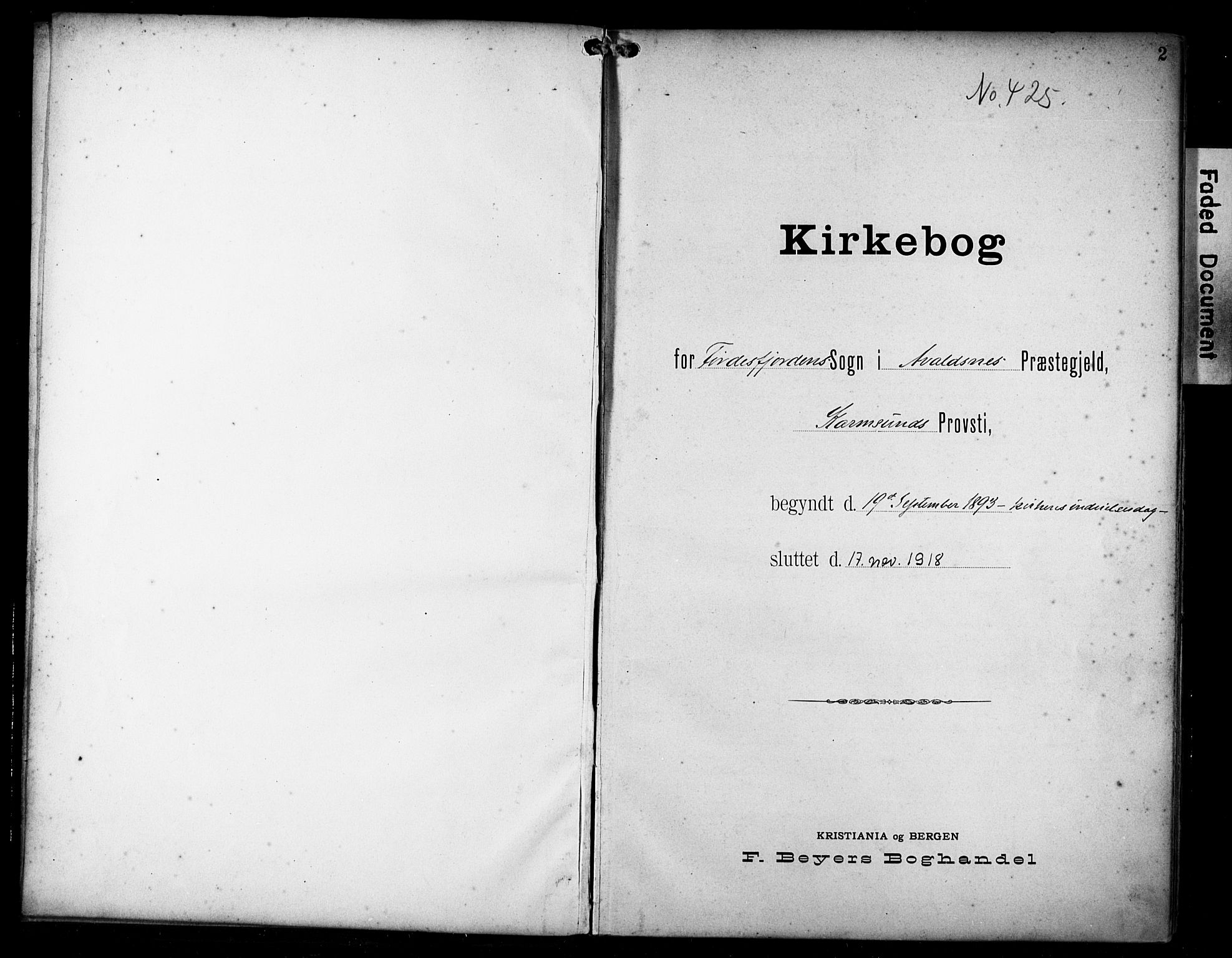 SAST, Avaldsnes sokneprestkontor, H/Ha/Haa/L0016: Ministerialbok nr. A 16, 1893-1918, s. 2