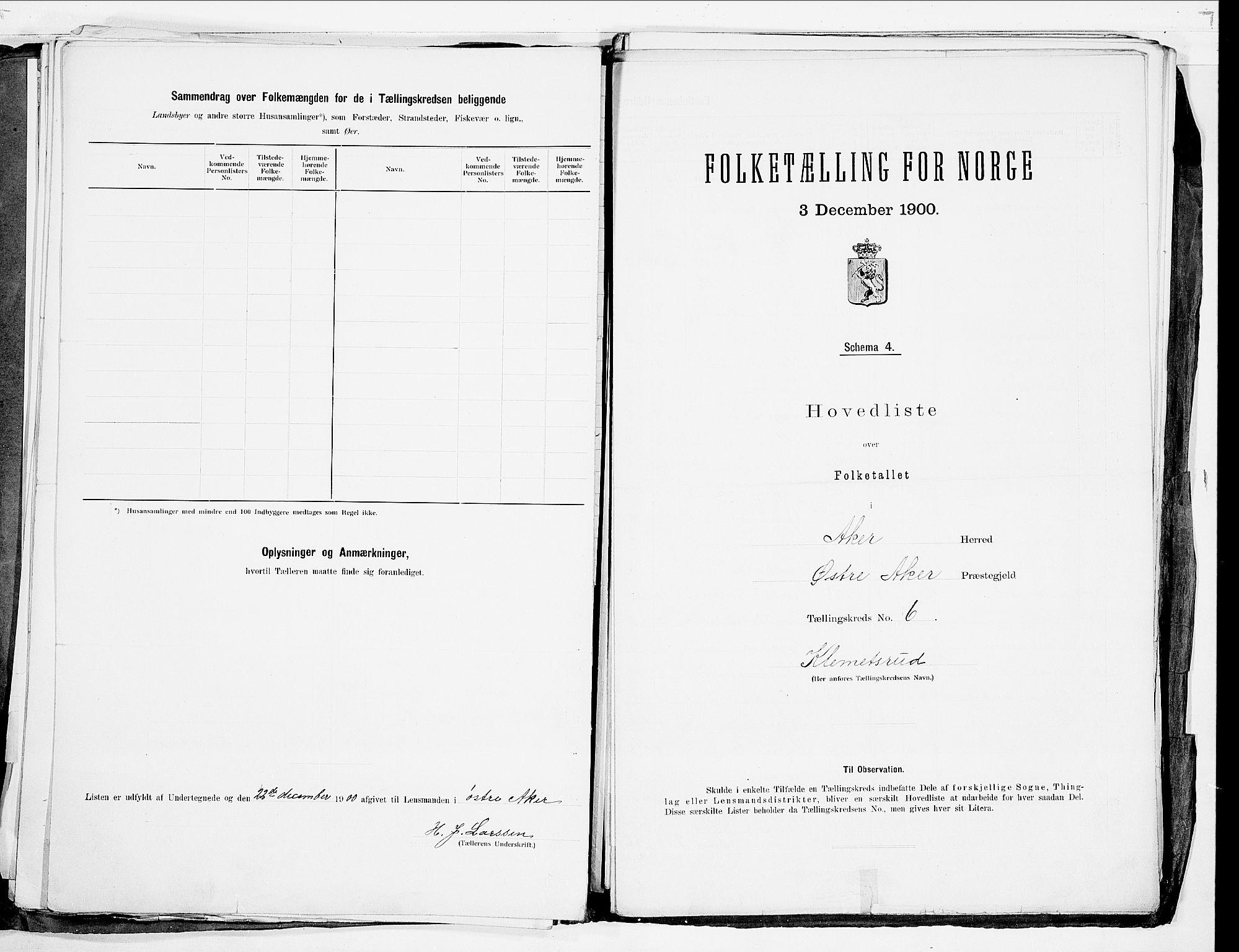 SAO, Folketelling 1900 for 0218 Aker herred, 1900, s. 23