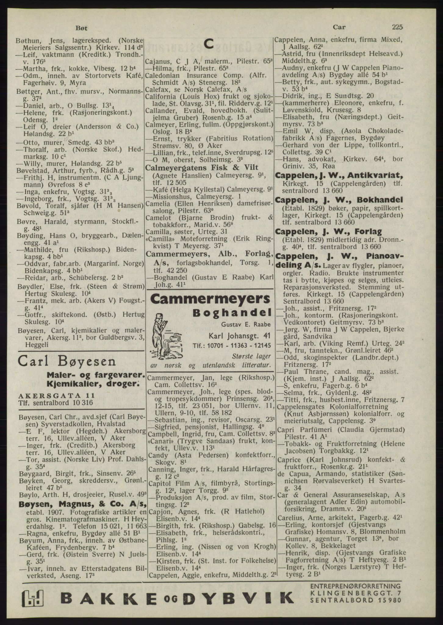 RA, Oslo adressebok (publikasjon)*, 1945, s. 225