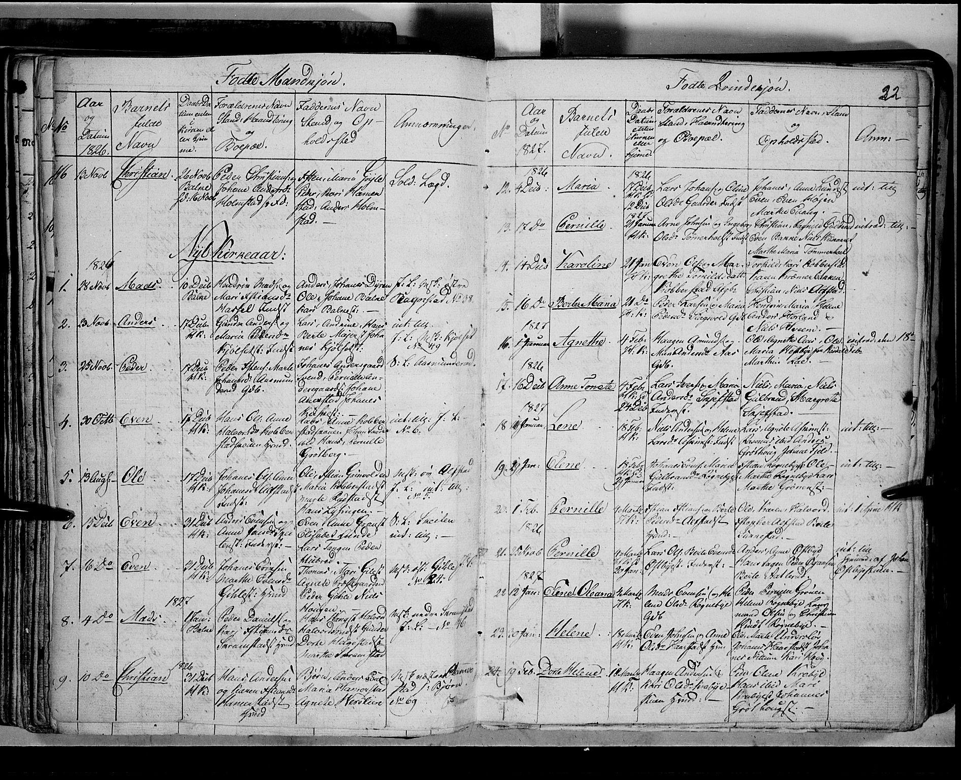 SAH, Toten prestekontor, Klokkerbok nr. 2, 1820-1827, s. 91w