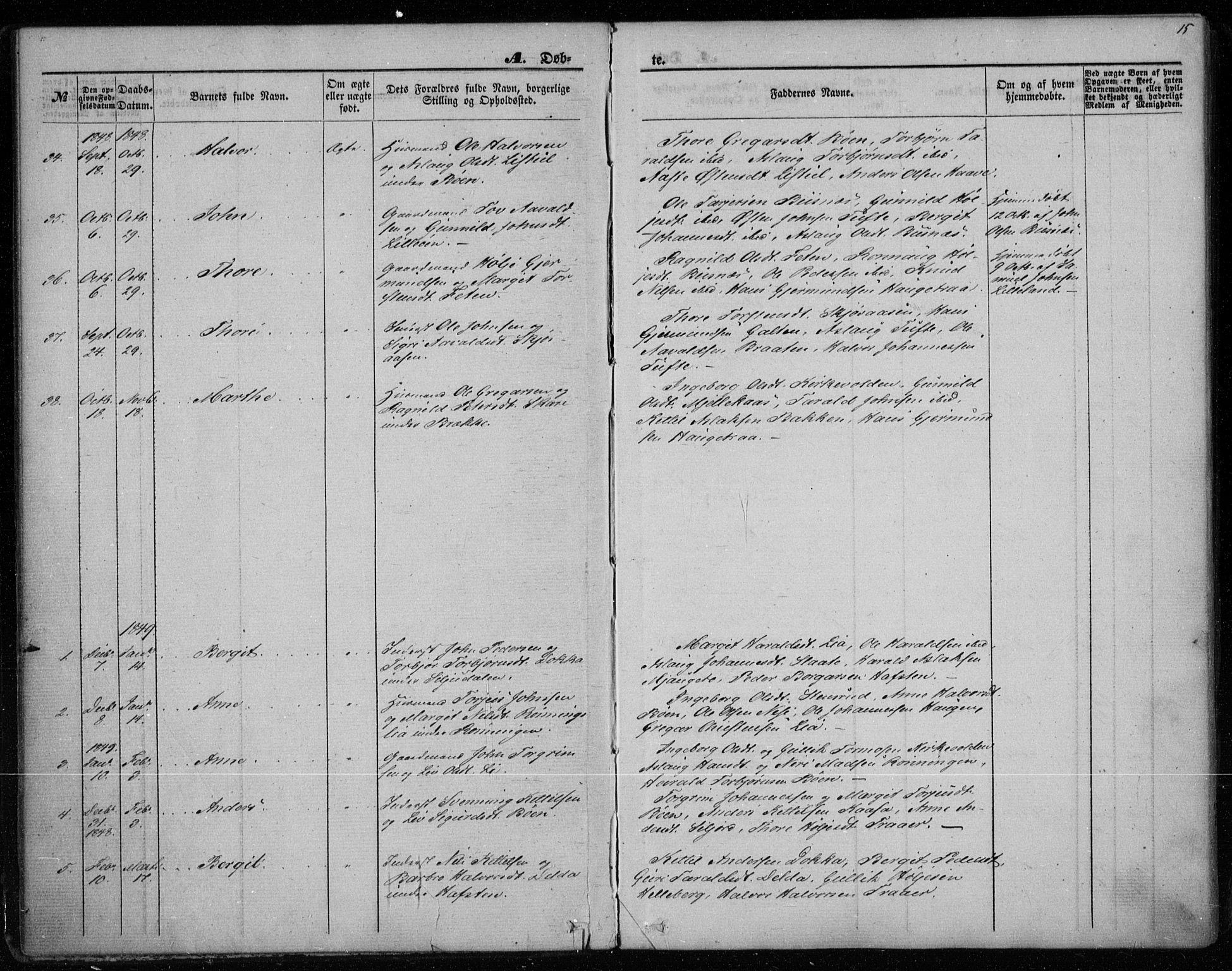 SAKO, Gransherad kirkebøker, F/Fa/L0002: Ministerialbok nr. I 2, 1844-1859, s. 15