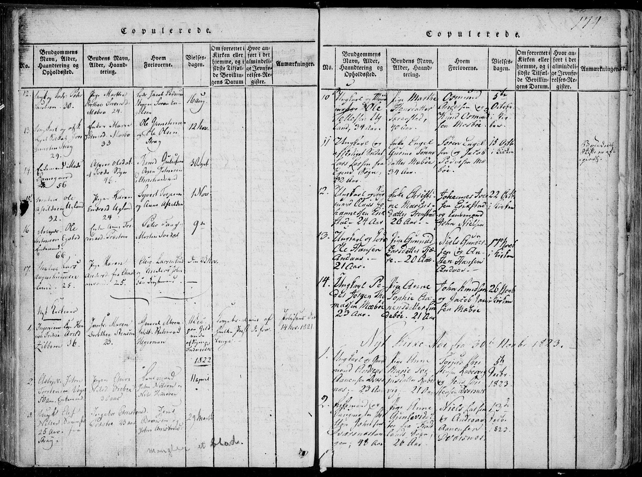 SAK, Oddernes sokneprestkontor, F/Fa/Faa/L0005: Ministerialbok nr. A 5, 1820-1838, s. 174