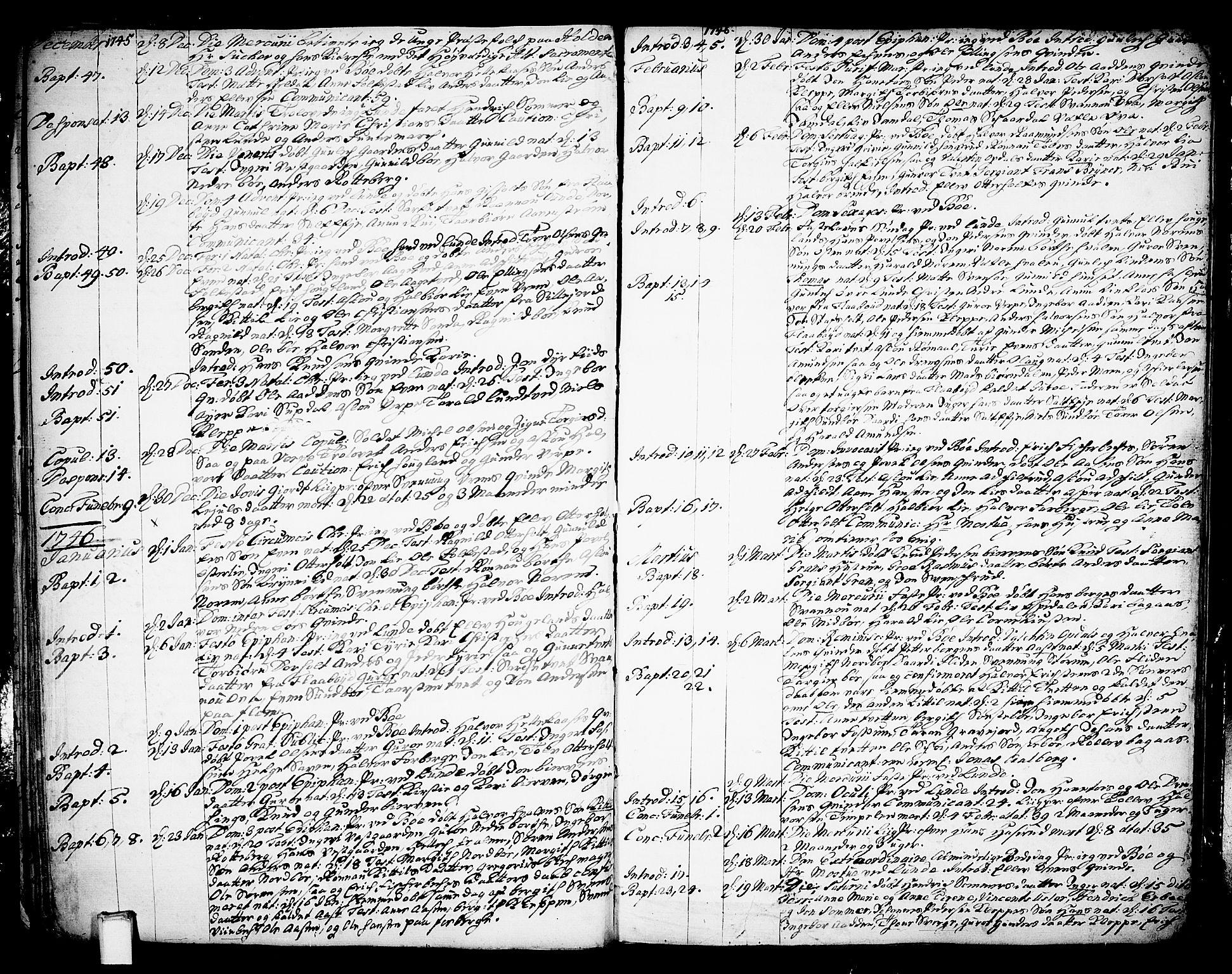 SAKO, Bø kirkebøker, F/Fa/L0003: Ministerialbok nr. 3, 1733-1748, s. 33