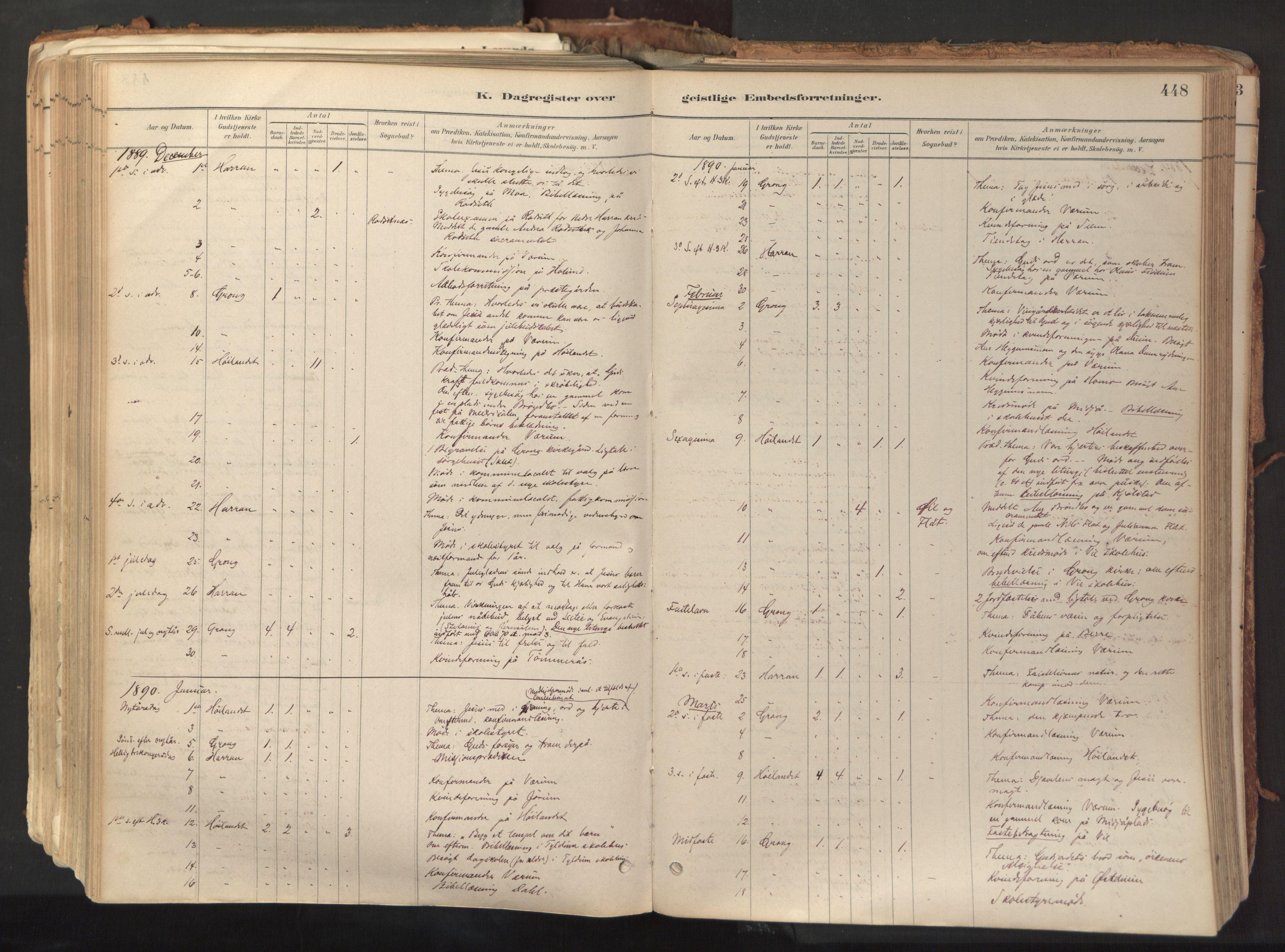 SAT, Ministerialprotokoller, klokkerbøker og fødselsregistre - Nord-Trøndelag, 758/L0519: Ministerialbok nr. 758A04, 1880-1926, s. 448