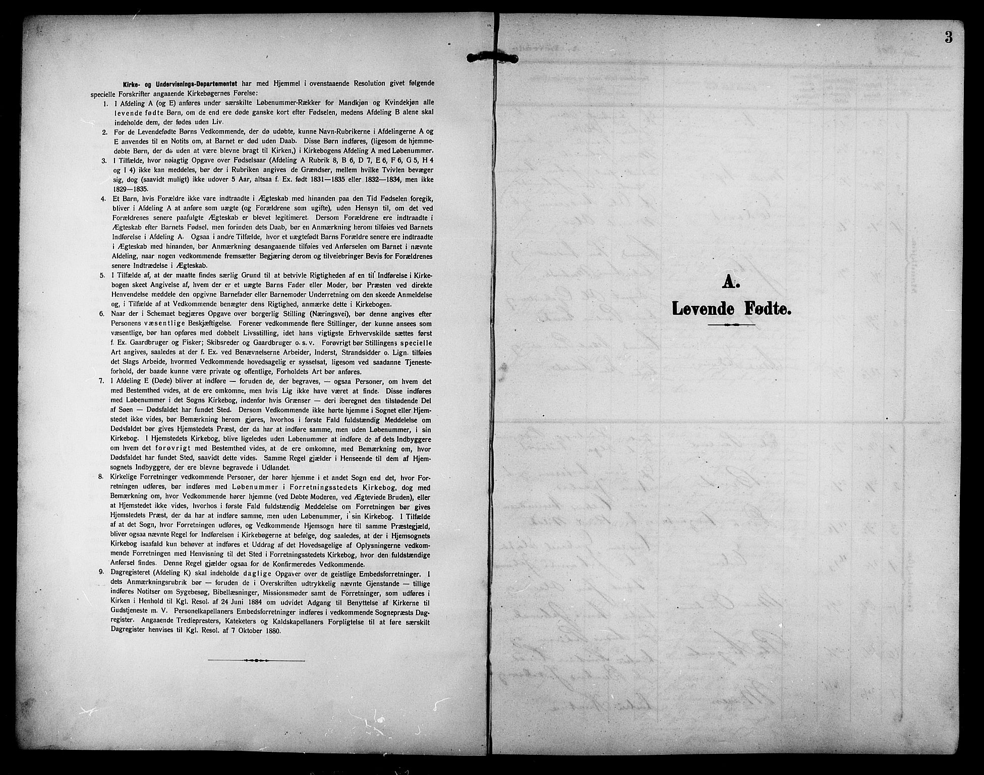 SAT, Ministerialprotokoller, klokkerbøker og fødselsregistre - Sør-Trøndelag, 633/L0520: Klokkerbok nr. 633C02, 1906-1921, s. 3