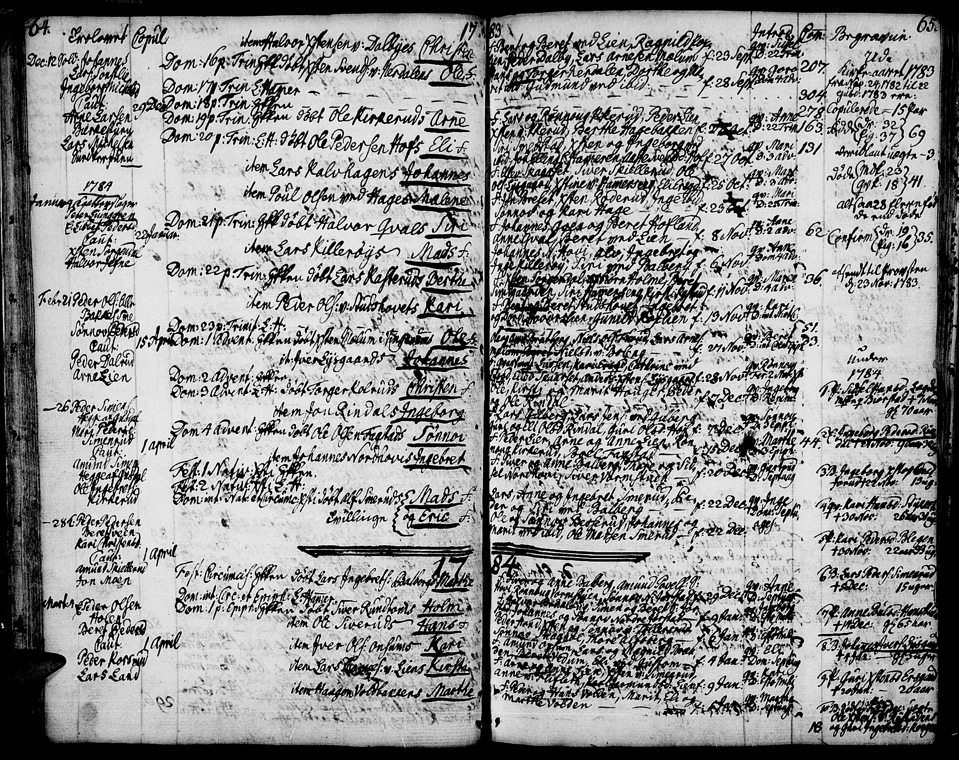 SAH, Fåberg prestekontor, Ministerialbok nr. 2, 1775-1818, s. 64-65