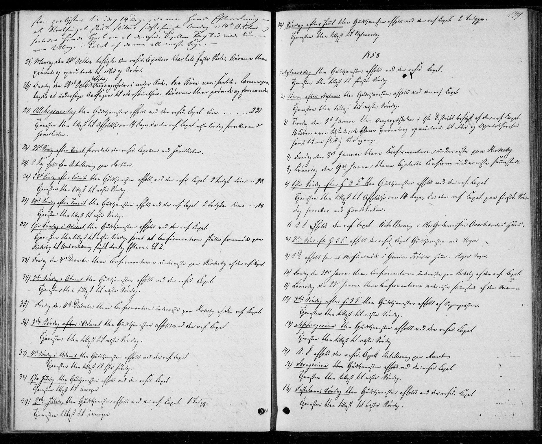SAT, Ministerialprotokoller, klokkerbøker og fødselsregistre - Nord-Trøndelag, 706/L0040: Ministerialbok nr. 706A01, 1850-1861, s. 149