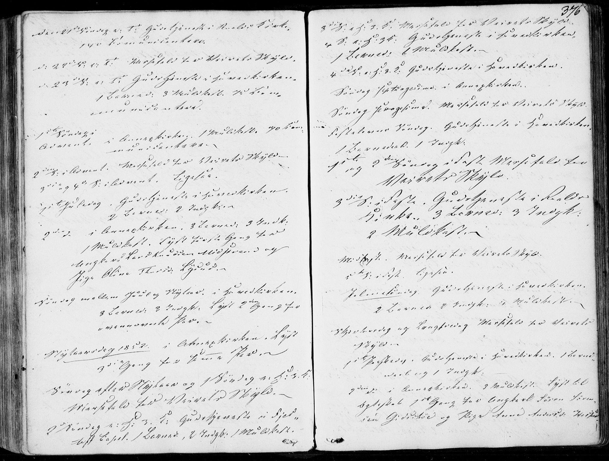 SAT, Ministerialprotokoller, klokkerbøker og fødselsregistre - Møre og Romsdal, 536/L0497: Ministerialbok nr. 536A06, 1845-1865, s. 376