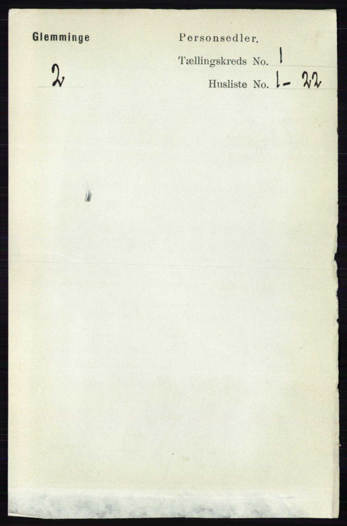 RA, Folketelling 1891 for 0132 Glemmen herred, 1891, s. 91