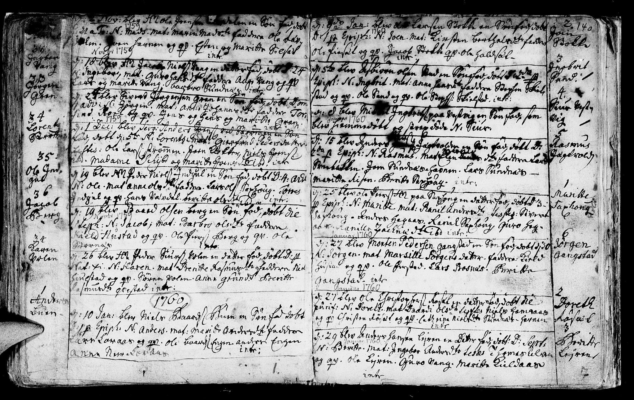 SAT, Ministerialprotokoller, klokkerbøker og fødselsregistre - Nord-Trøndelag, 730/L0272: Ministerialbok nr. 730A01, 1733-1764, s. 140