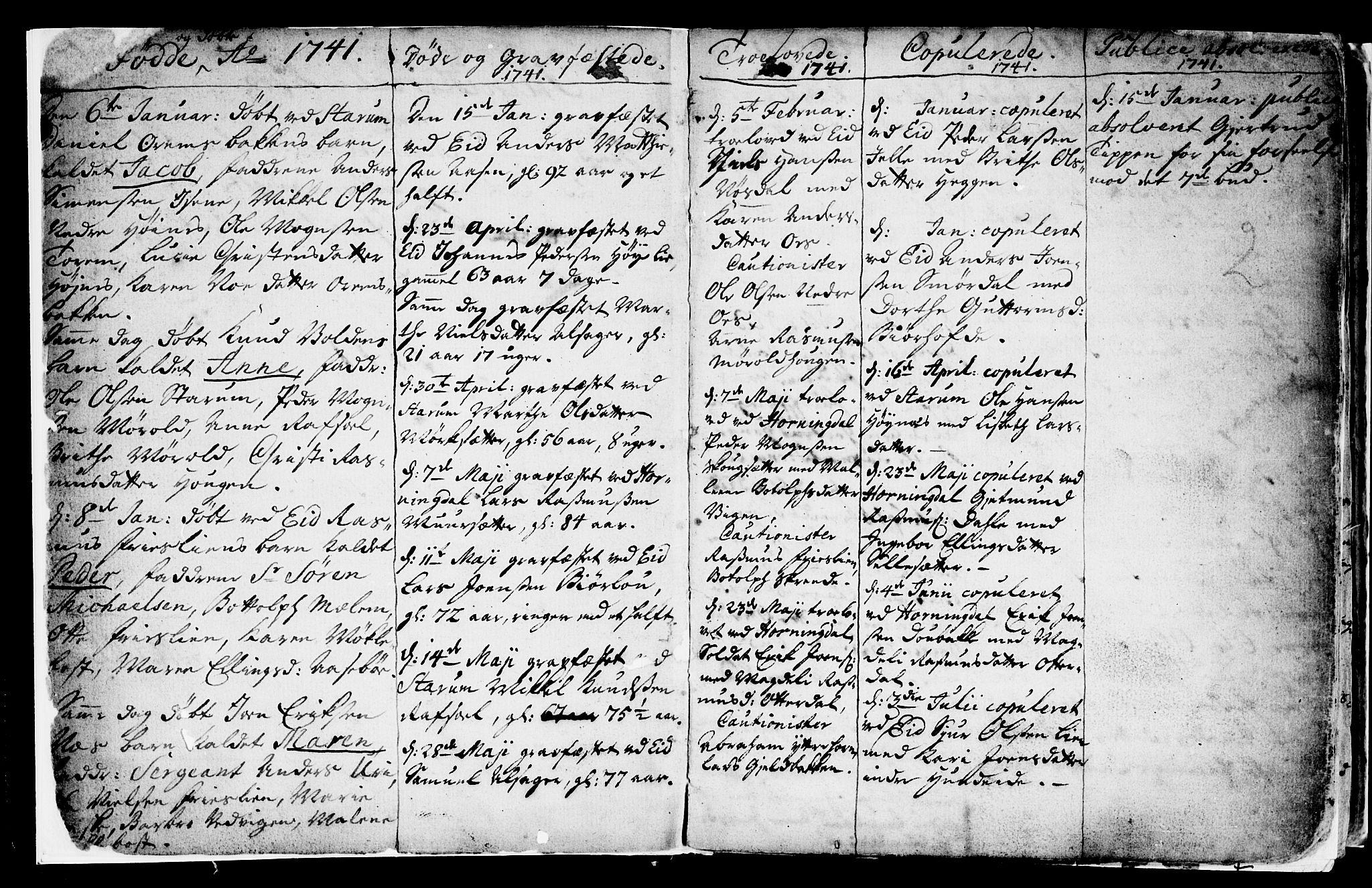 SAB, Eid Sokneprestembete, H/Haa: Ministerialbok nr. A 2, 1741-1769, s. 2