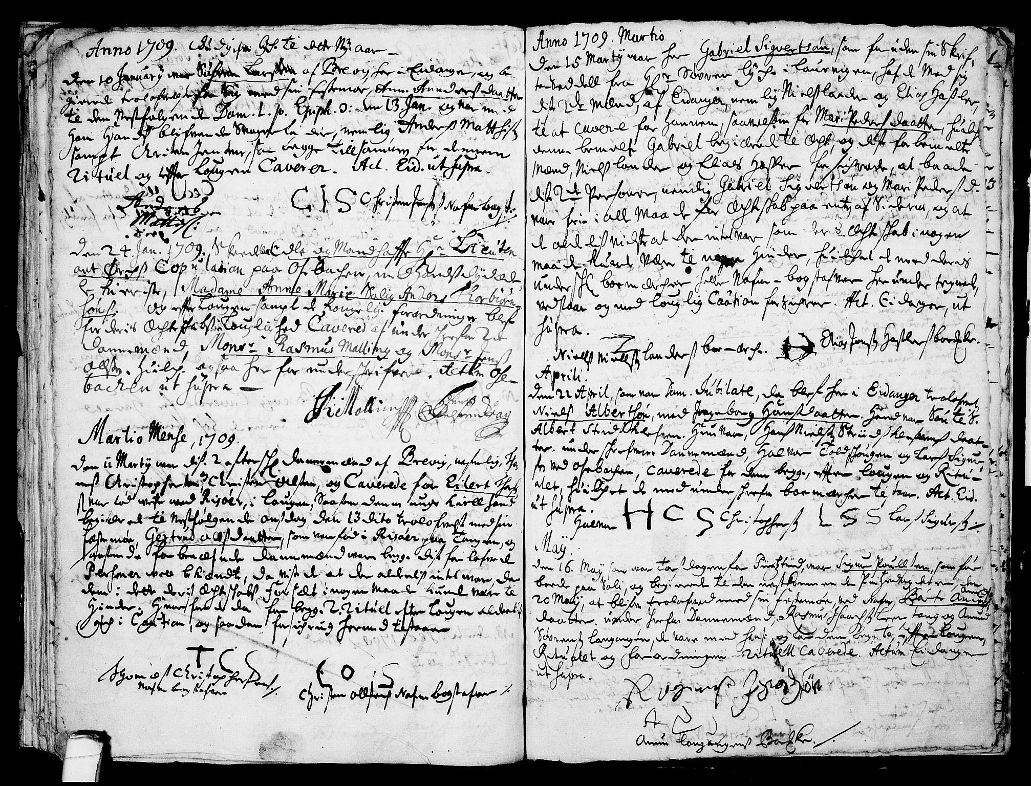 SAKO, Eidanger kirkebøker, F/Fa/L0001: Ministerialbok nr. 1, 1695-1717, s. 32