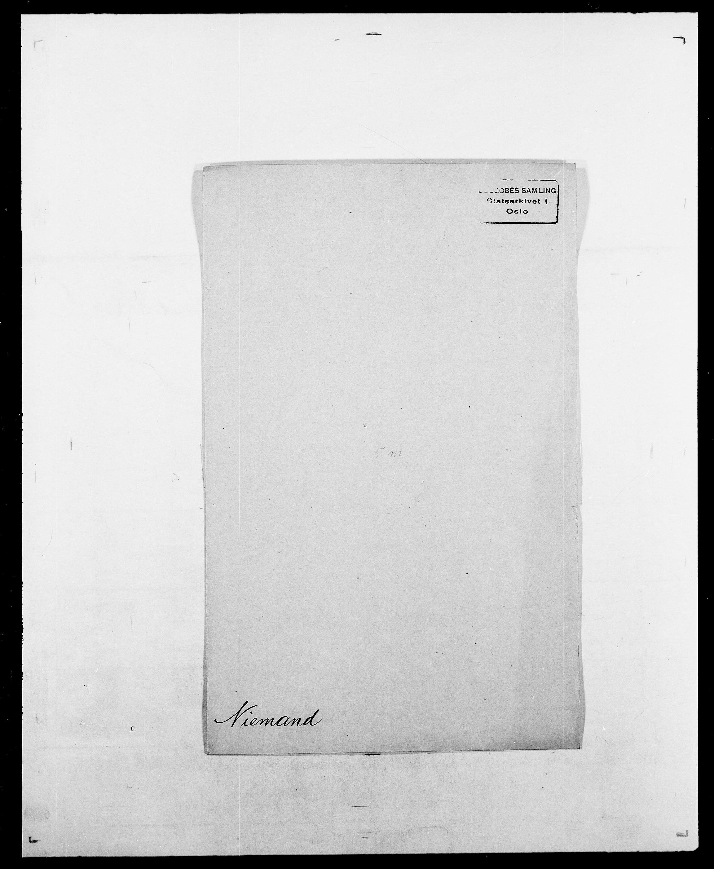 SAO, Delgobe, Charles Antoine - samling, D/Da/L0028: Naaden - Nøvik, s. 299