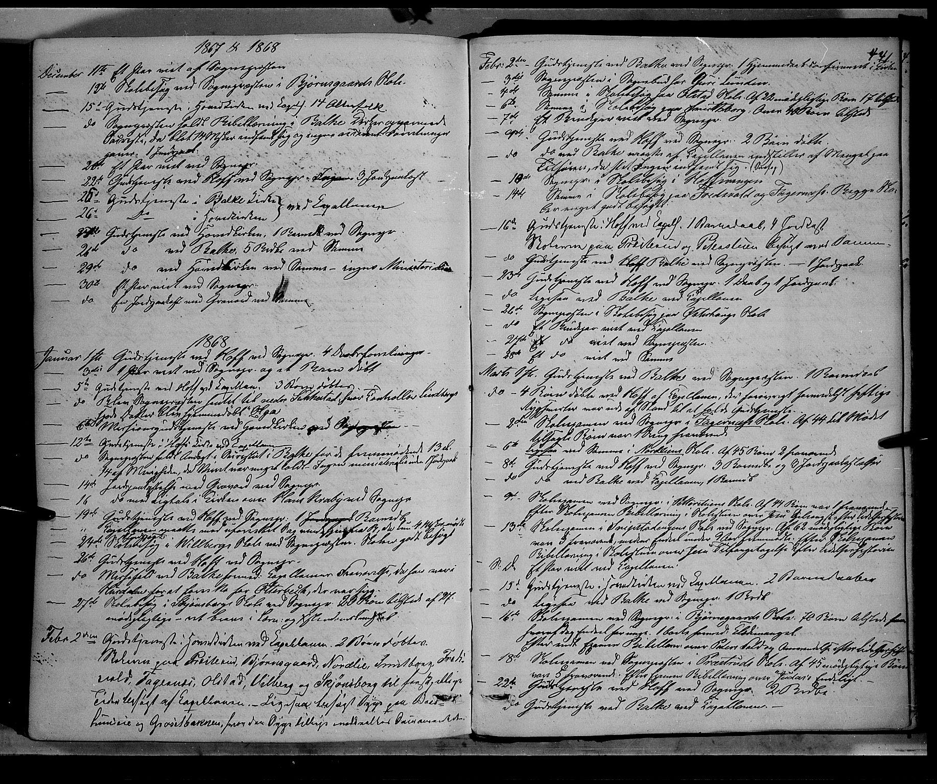 SAH, Østre Toten prestekontor, Ministerialbok nr. 5, 1866-1877, s. 441