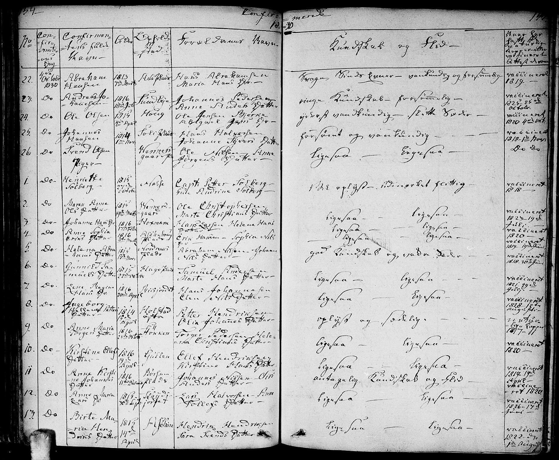 SAO, Ås prestekontor Kirkebøker, F/Fa/L0005: Ministerialbok nr. I 5, 1827-1840, s. 154-155