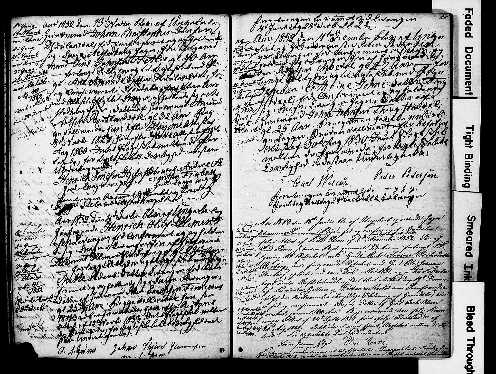 SAT, Ministerialprotokoller, klokkerbøker og fødselsregistre - Nord-Trøndelag, 717/L0161: Forlovererklæringer nr. 717A11, 1850-1895, s. 25