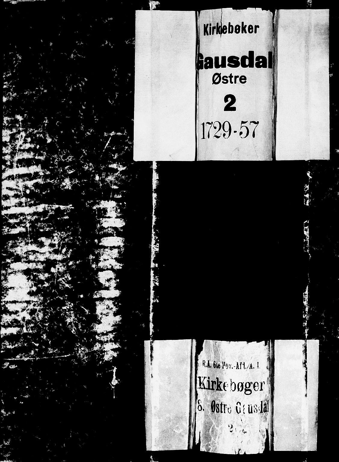 SAH, Gausdal prestekontor, Ministerialbok nr. 2, 1729-1757