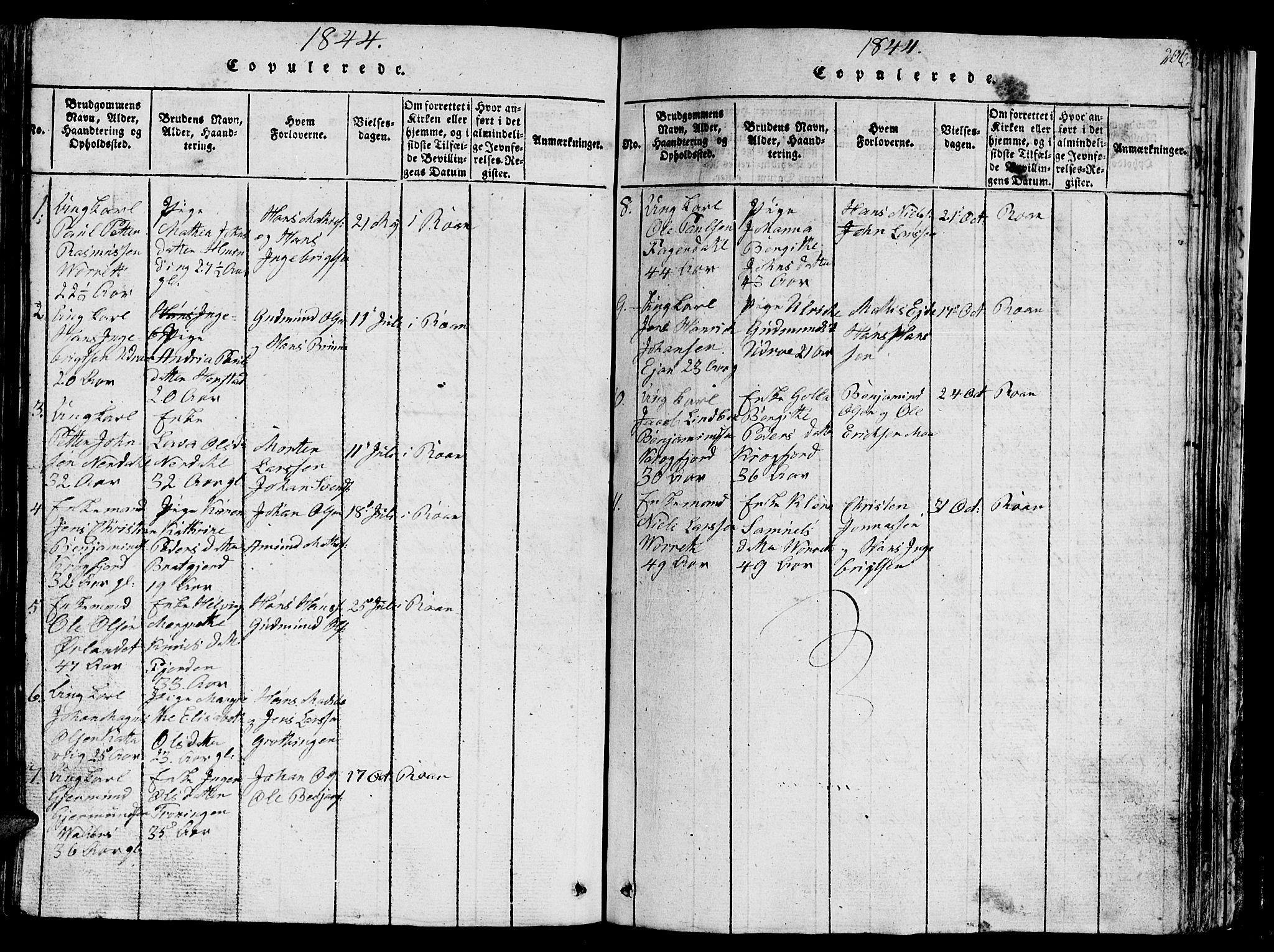 SAT, Ministerialprotokoller, klokkerbøker og fødselsregistre - Sør-Trøndelag, 657/L0714: Klokkerbok nr. 657C01, 1818-1868, s. 206