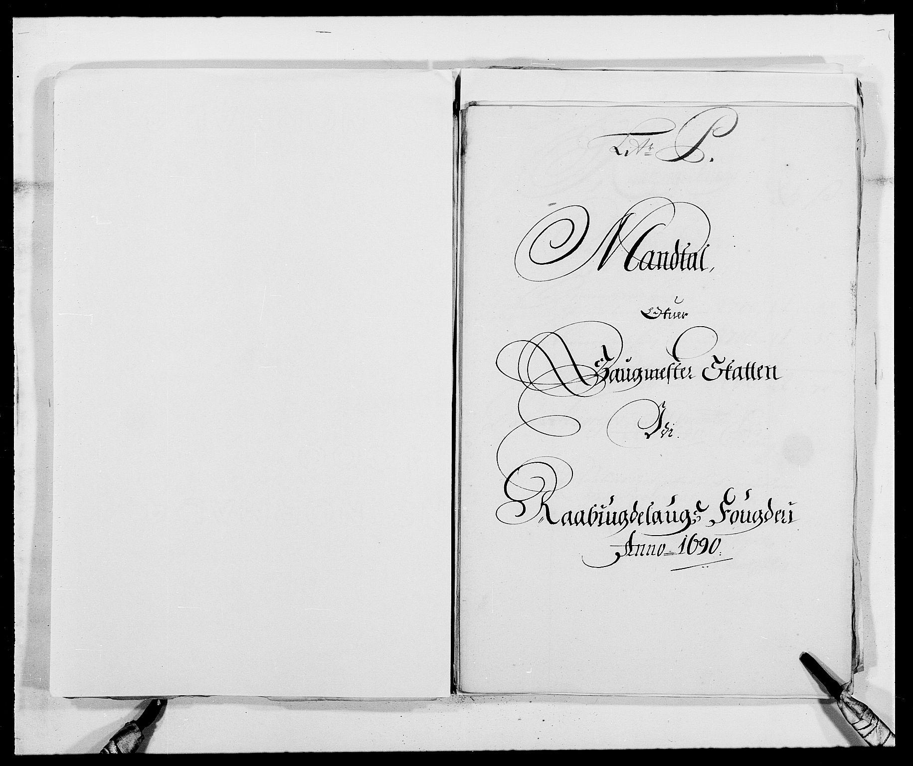 RA, Rentekammeret inntil 1814, Reviderte regnskaper, Fogderegnskap, R40/L2442: Fogderegnskap Råbyggelag, 1689-1690, s. 174