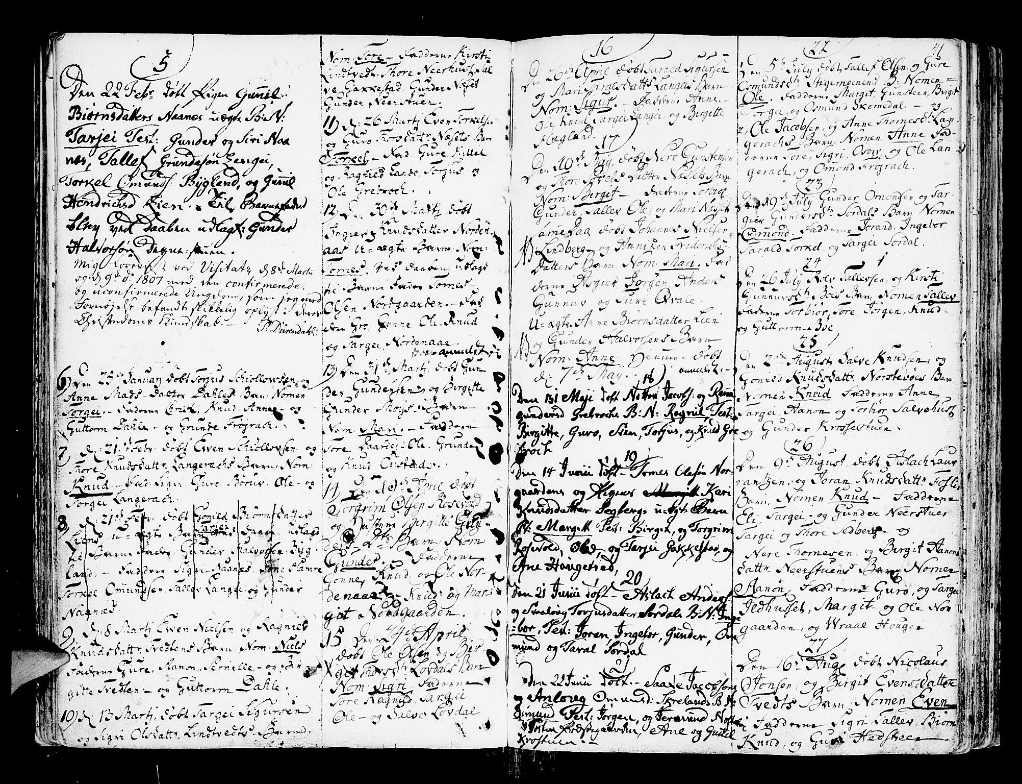 SAK, Bygland sokneprestkontor, F/Fa/Fab/L0002: Ministerialbok nr. A 2, 1766-1816, s. 41