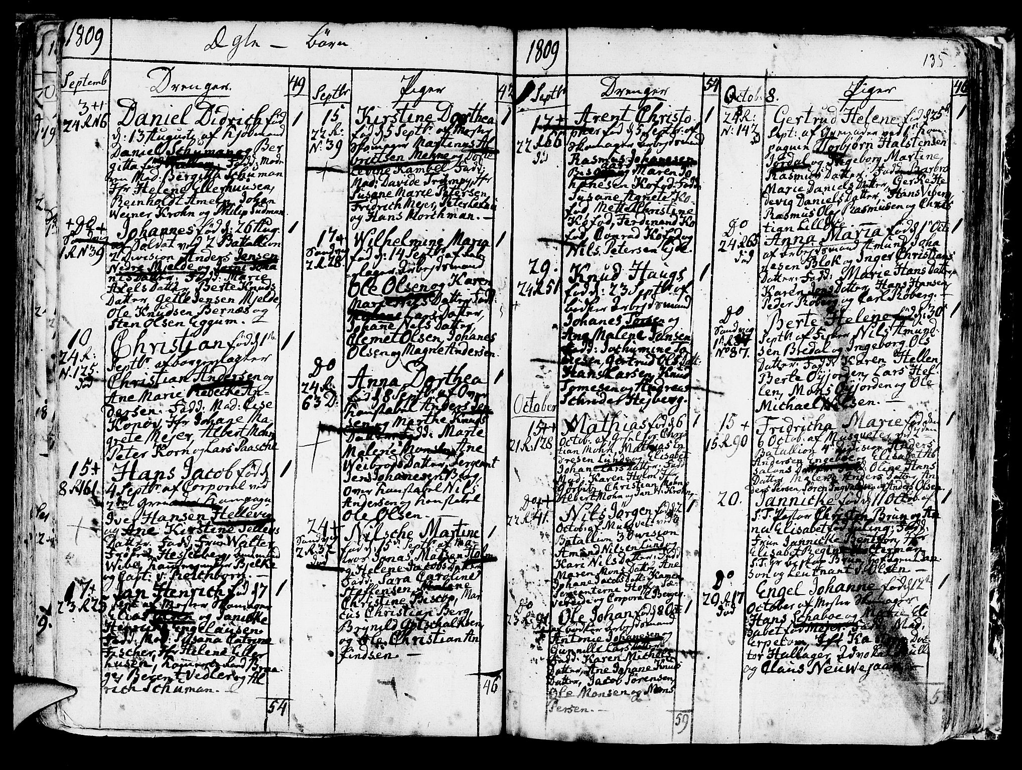 SAB, Korskirken Sokneprestembete, H/Haa/L0006: Ministerialbok nr. A 6, 1790-1820, s. 135