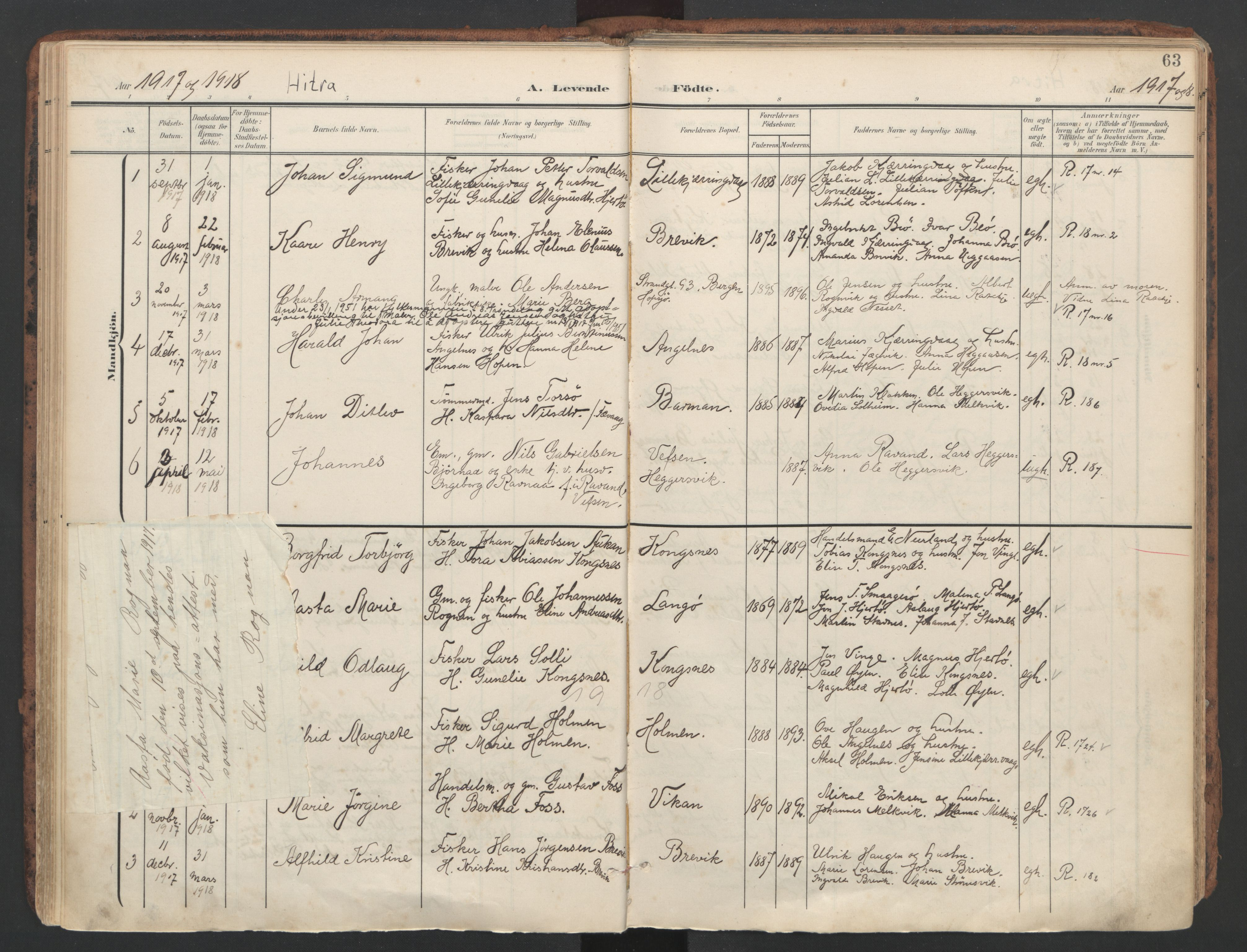 SAT, Ministerialprotokoller, klokkerbøker og fødselsregistre - Sør-Trøndelag, 634/L0537: Ministerialbok nr. 634A13, 1896-1922, s. 63
