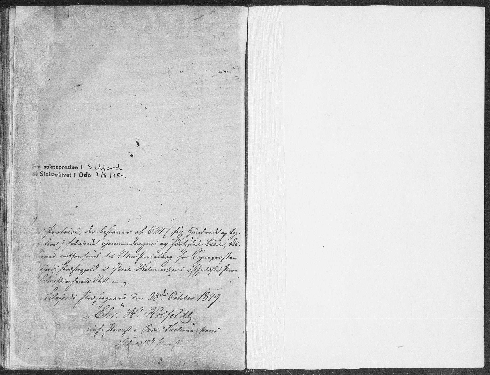 SAKO, Seljord kirkebøker, F/Fa/L012b: Ministerialbok nr. I 12B, 1850-1865