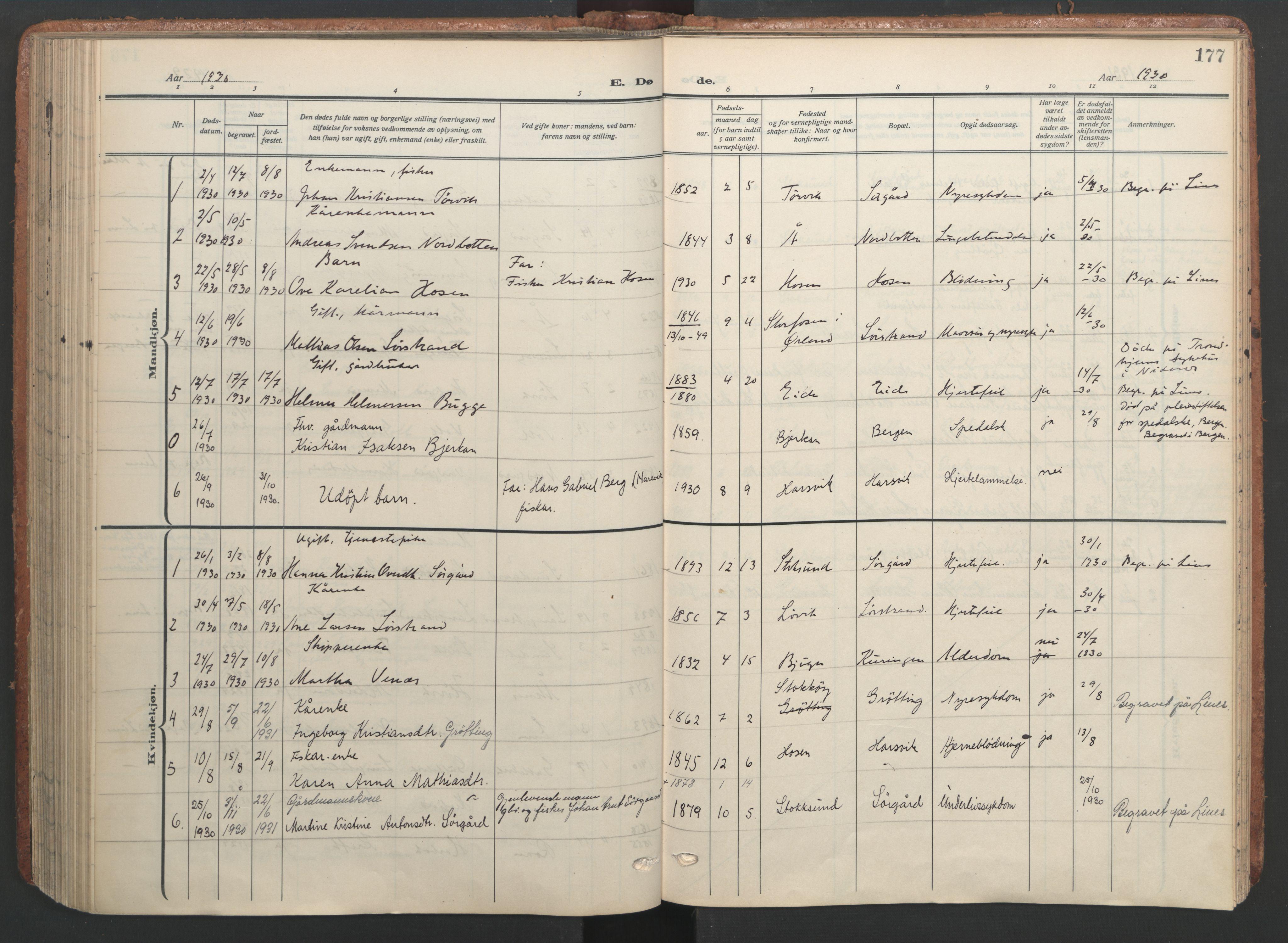 SAT, Ministerialprotokoller, klokkerbøker og fødselsregistre - Sør-Trøndelag, 656/L0694: Ministerialbok nr. 656A03, 1914-1931, s. 177