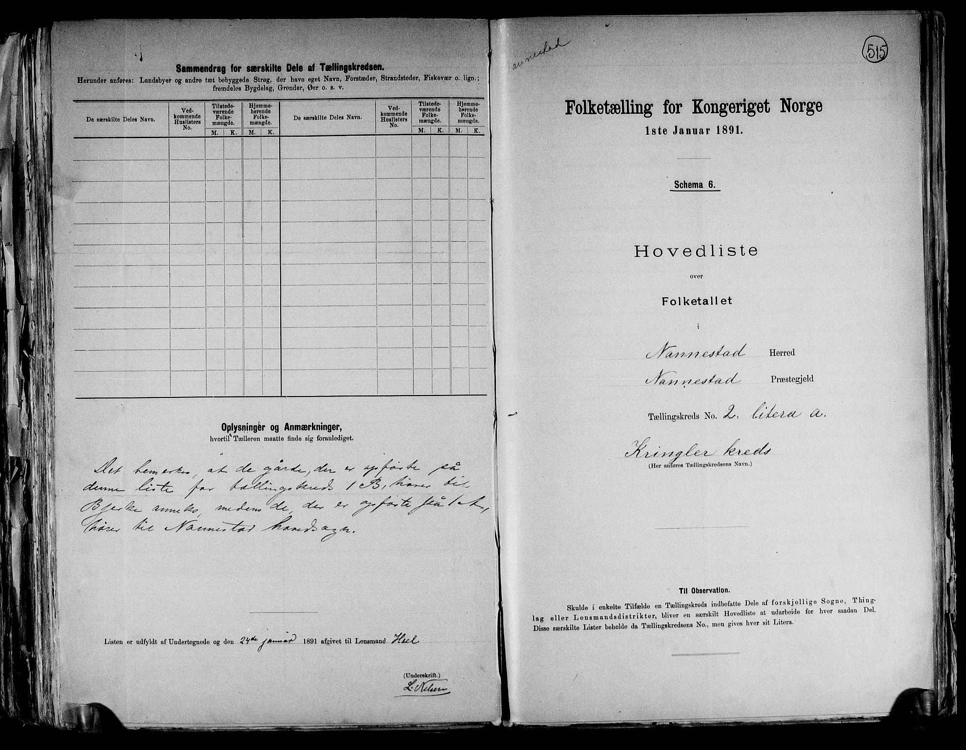 RA, Folketelling 1891 for 0238 Nannestad herred, 1891, s. 8