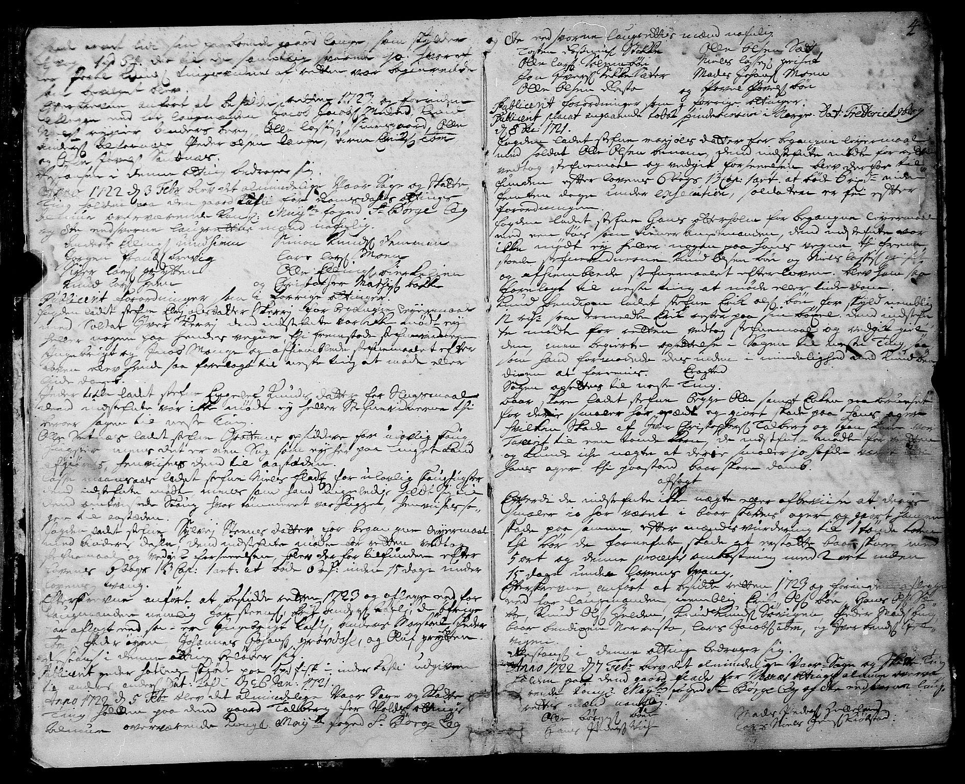 SAT, Romsdal sorenskriveri, 1/1A/L0009: Tingbok, 1722-1728, s. 3b-4a