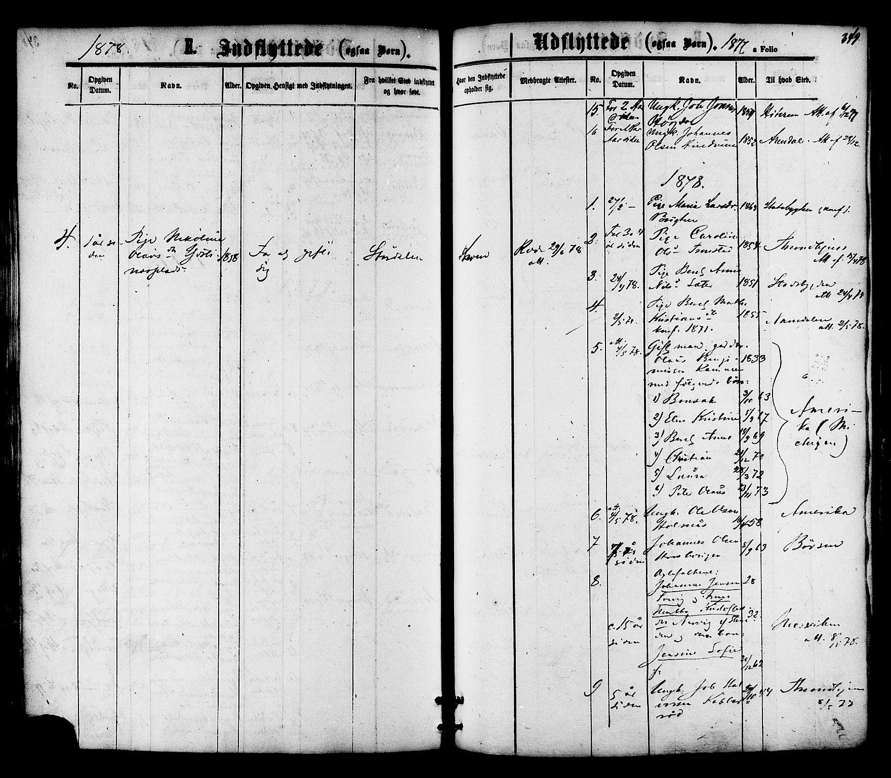 SAT, Ministerialprotokoller, klokkerbøker og fødselsregistre - Nord-Trøndelag, 701/L0009: Ministerialbok nr. 701A09 /1, 1864-1882, s. 349