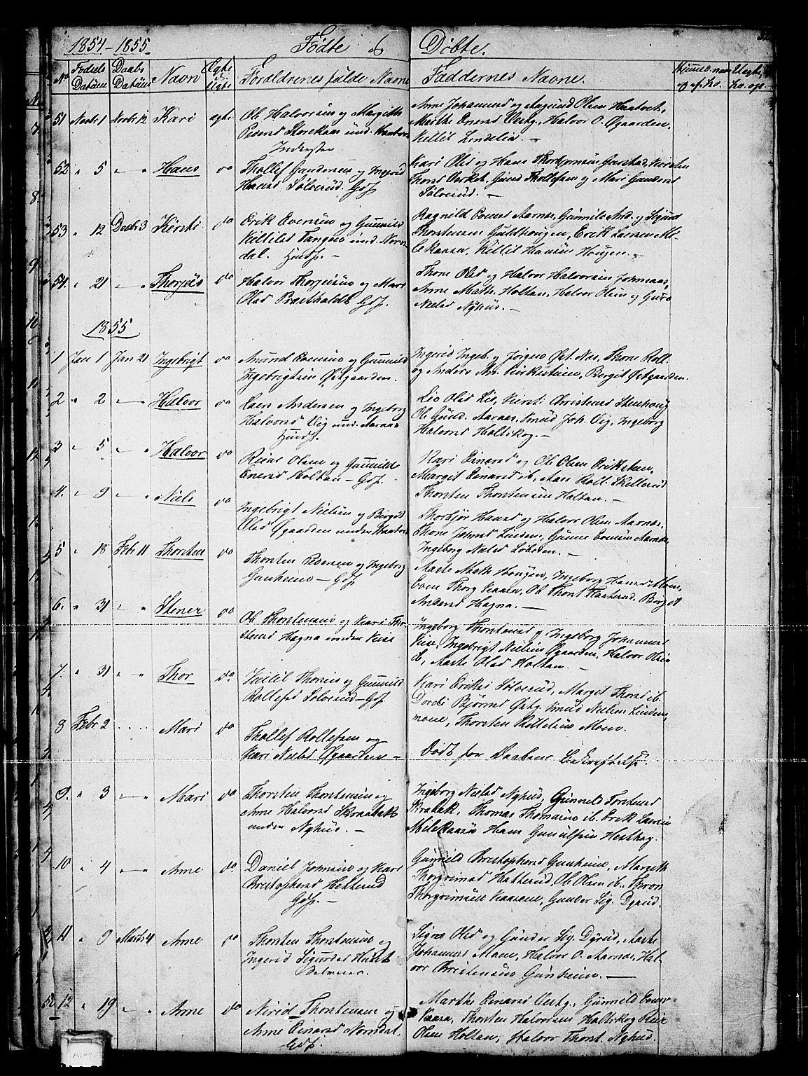SAKO, Sauherad kirkebøker, G/Gb/L0001: Klokkerbok nr. II 1, 1845-1865, s. 32