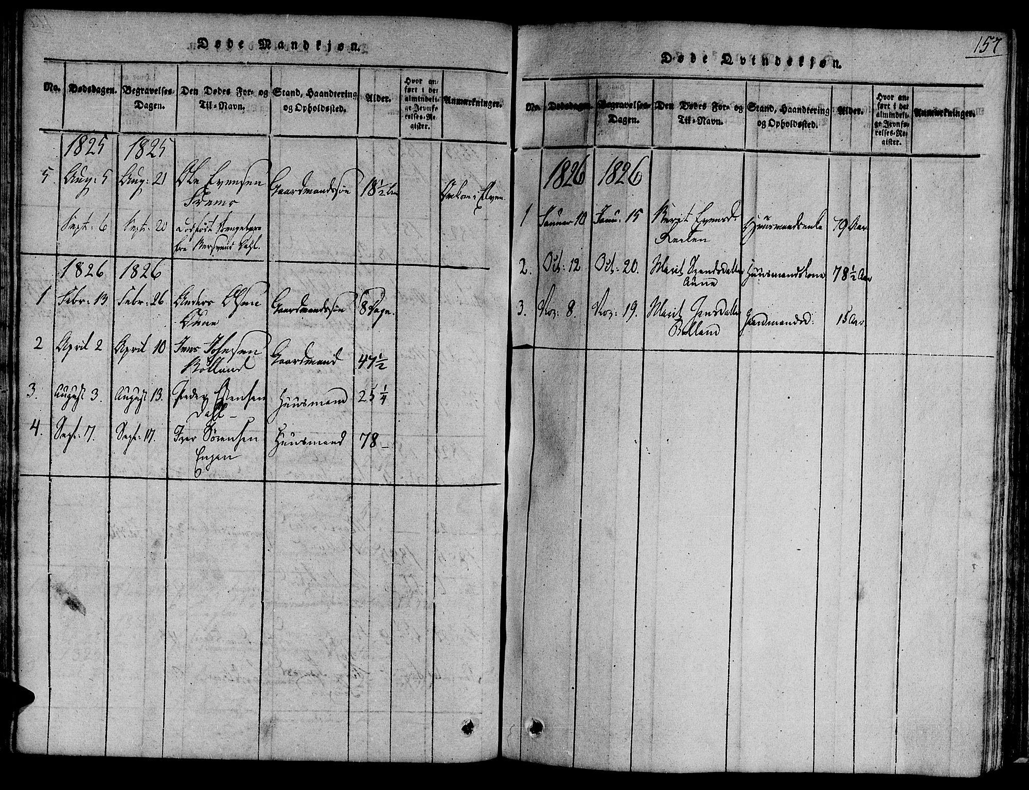 SAT, Ministerialprotokoller, klokkerbøker og fødselsregistre - Sør-Trøndelag, 691/L1066: Ministerialbok nr. 691A03 /2, 1816-1826, s. 157