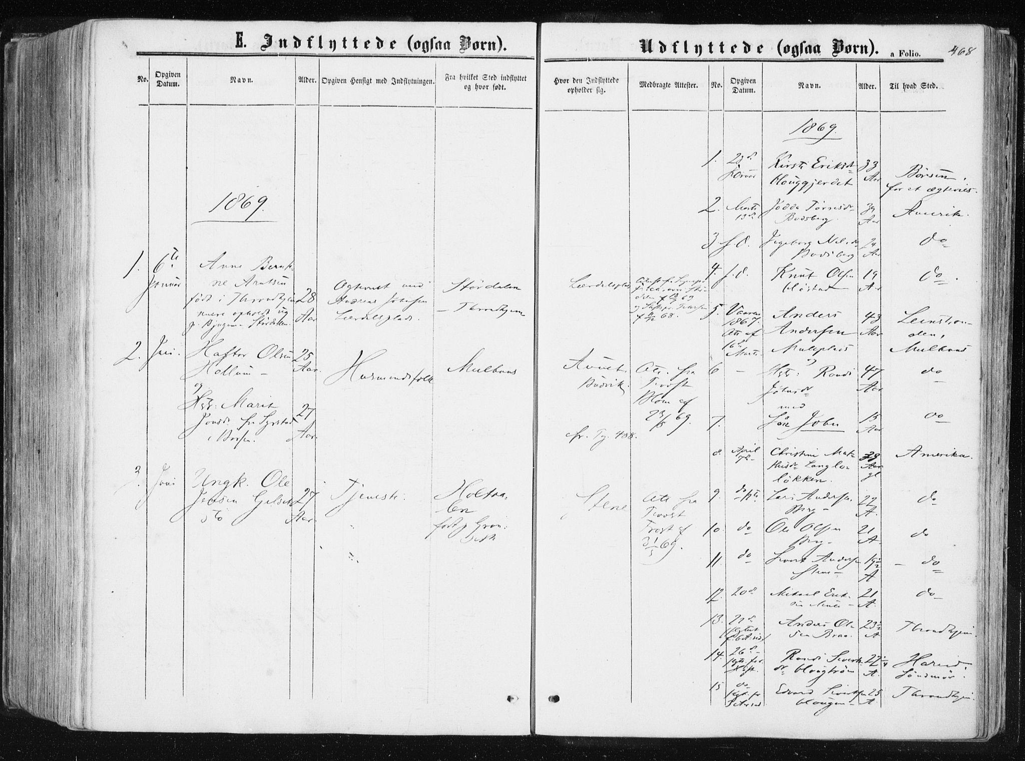 SAT, Ministerialprotokoller, klokkerbøker og fødselsregistre - Sør-Trøndelag, 612/L0377: Ministerialbok nr. 612A09, 1859-1877, s. 468