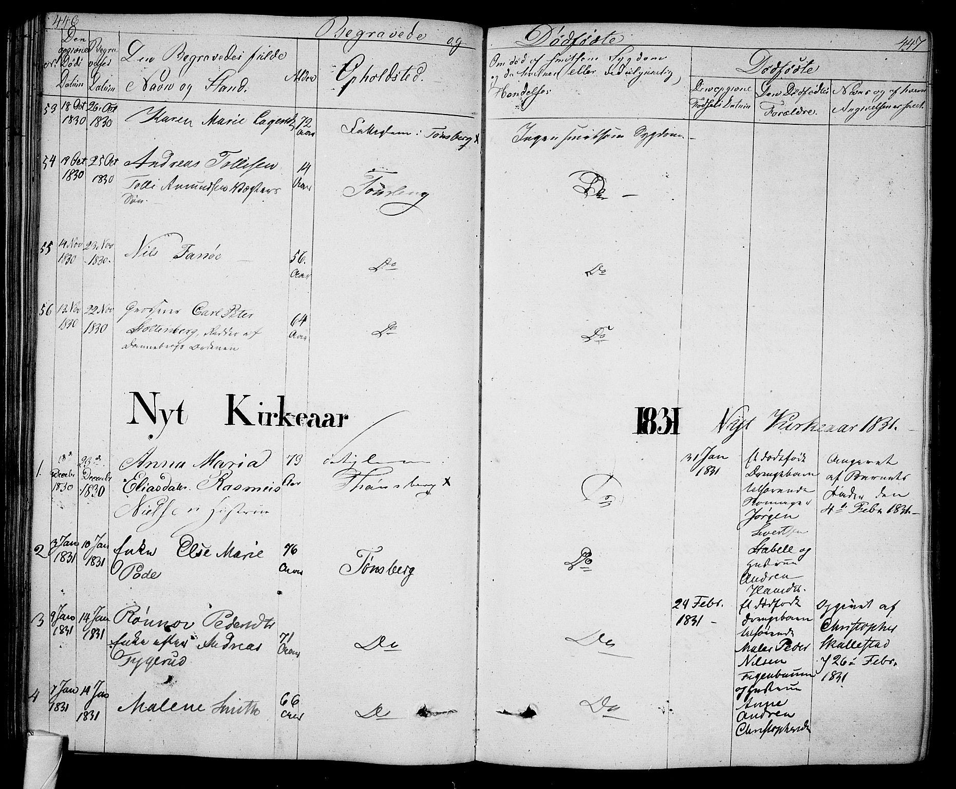 SAKO, Tønsberg kirkebøker, F/Fa/L0005: Ministerialbok nr. I 5, 1827-1836, s. 446-447
