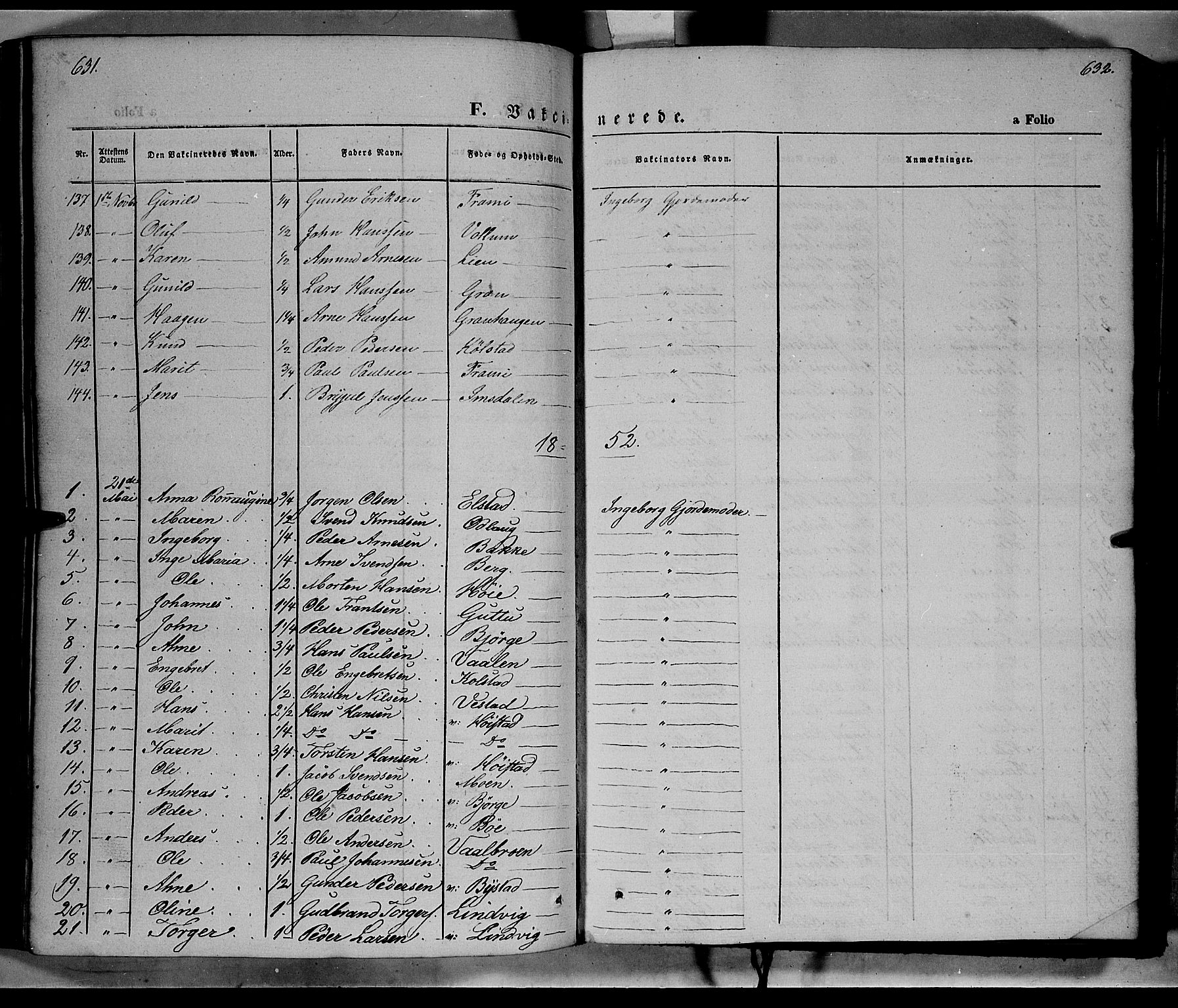 SAH, Ringebu prestekontor, Ministerialbok nr. 6, 1848-1859, s. 631-632