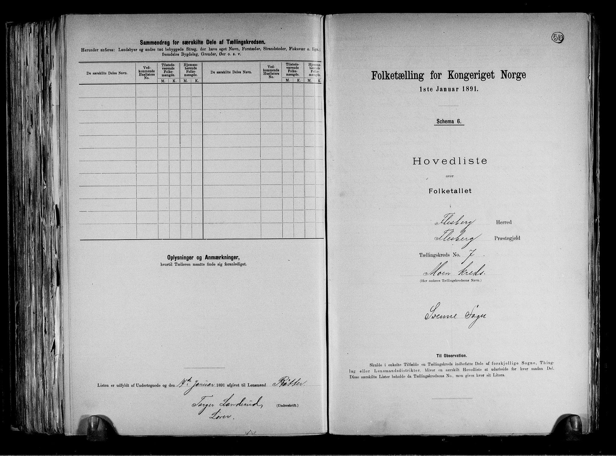 RA, Folketelling 1891 for 0631 Flesberg herred, 1891, s. 18