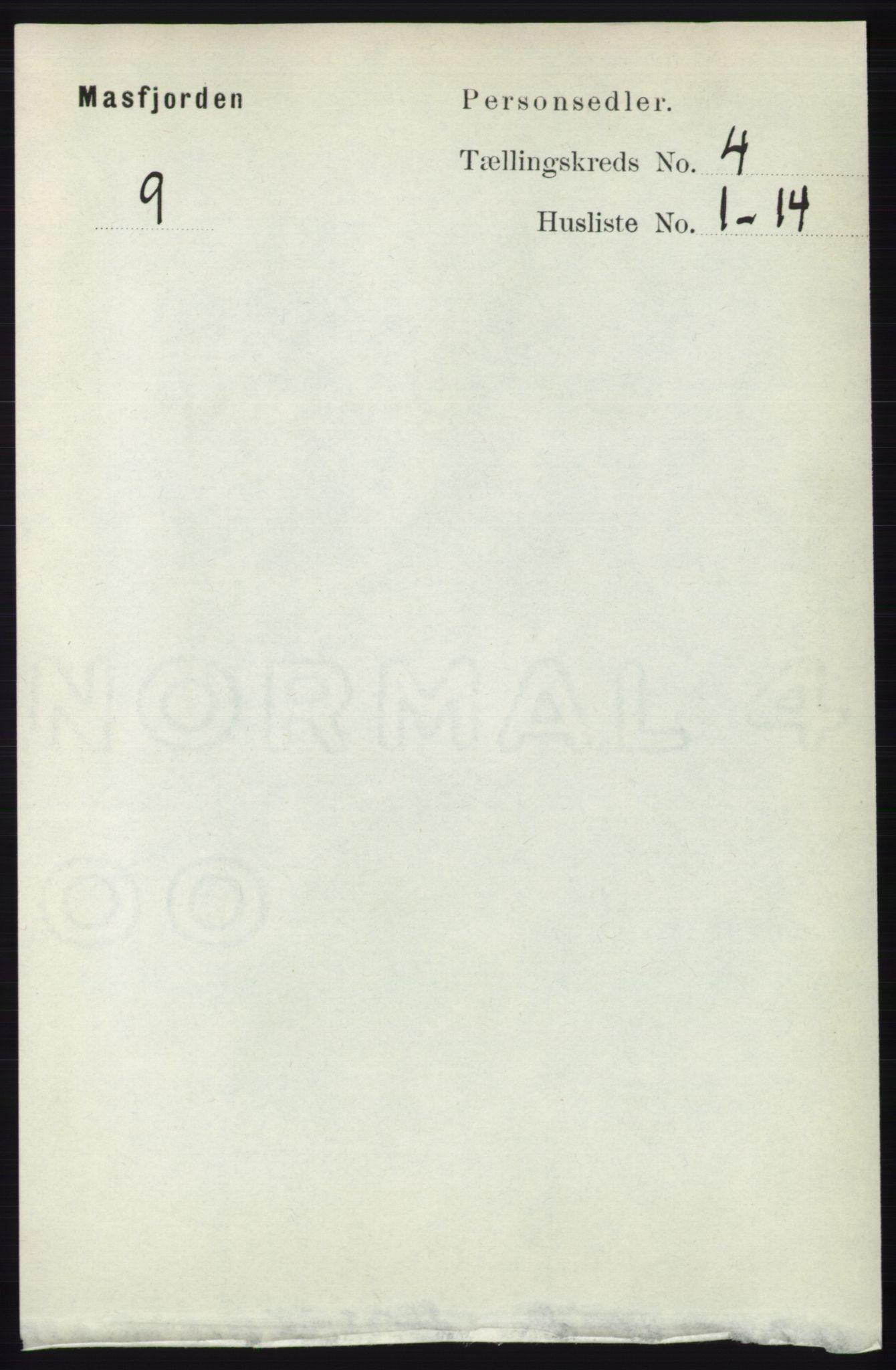 RA, Folketelling 1891 for 1266 Masfjorden herred, 1891, s. 737