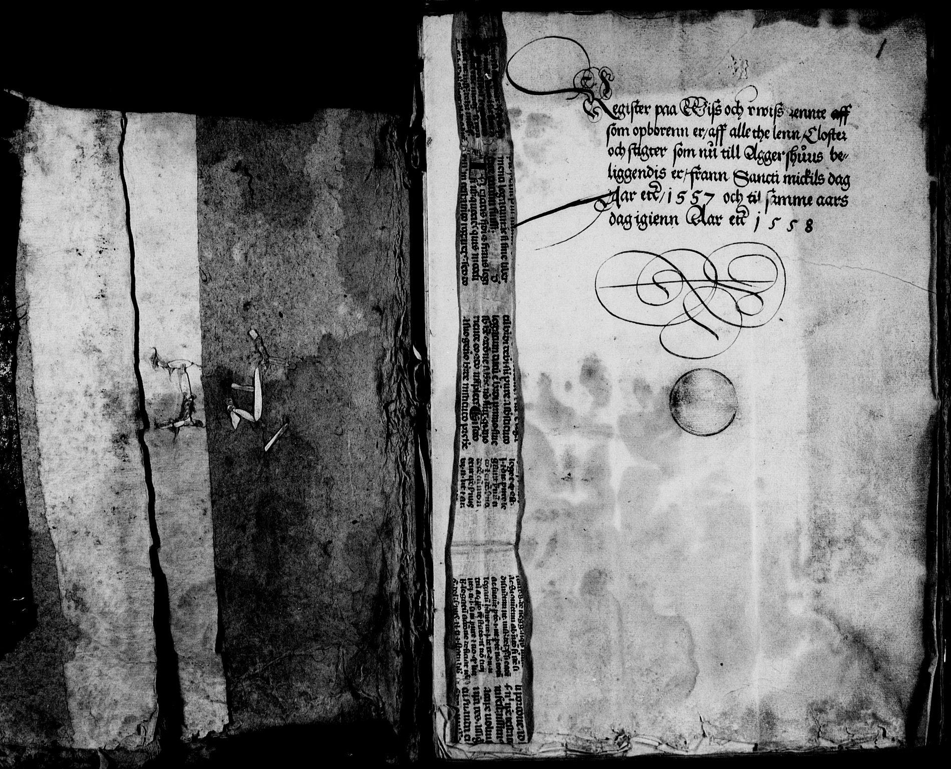 RA, Rentekammeret inntil 1814, Reviderte regnskaper, Lensregnskaper, R/Ra/L0003: Akershus len, 1557-1558