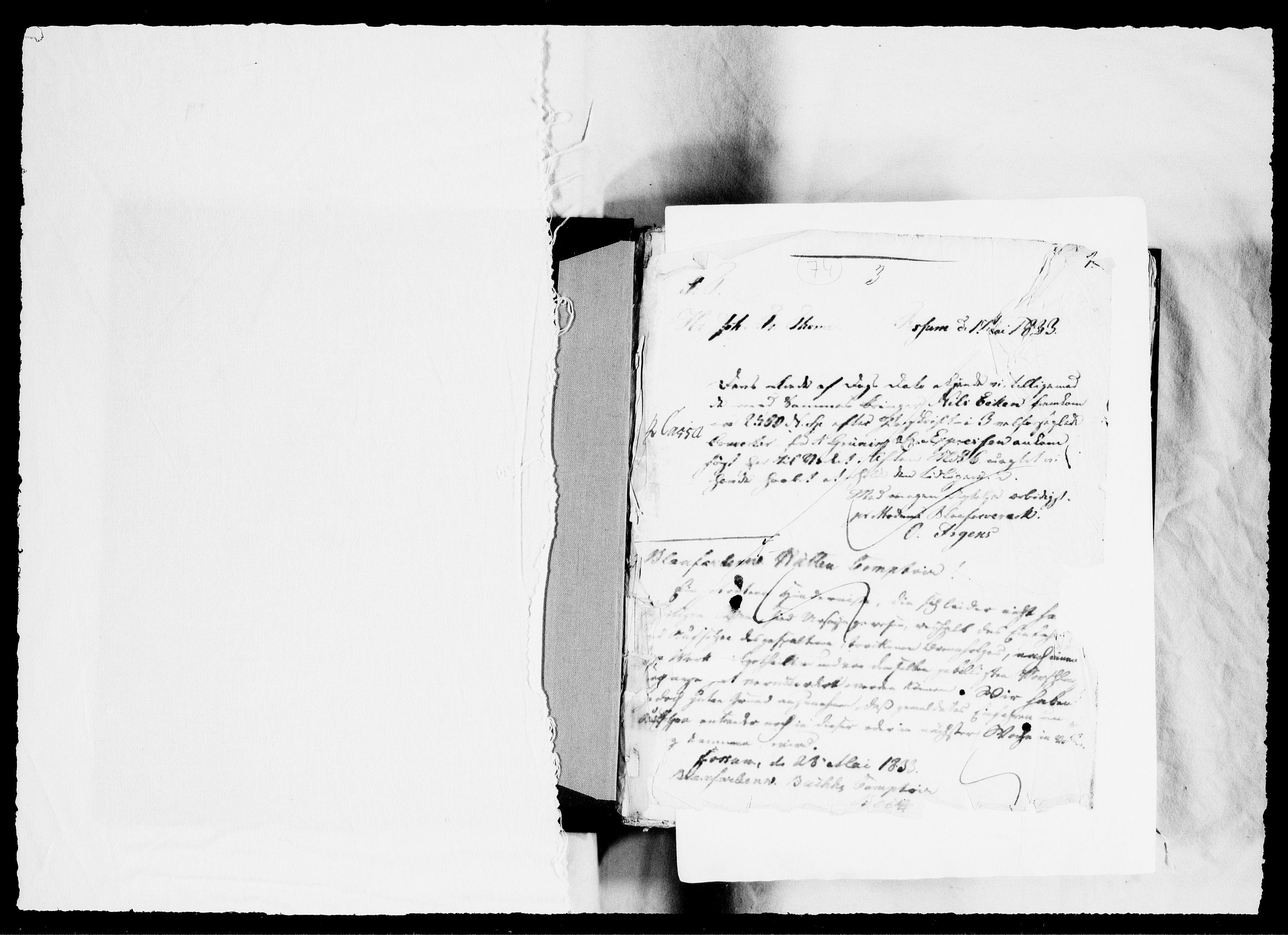 RA, Modums Blaafarveværk, G/Gb/L0074, 1833-1834, s. 2