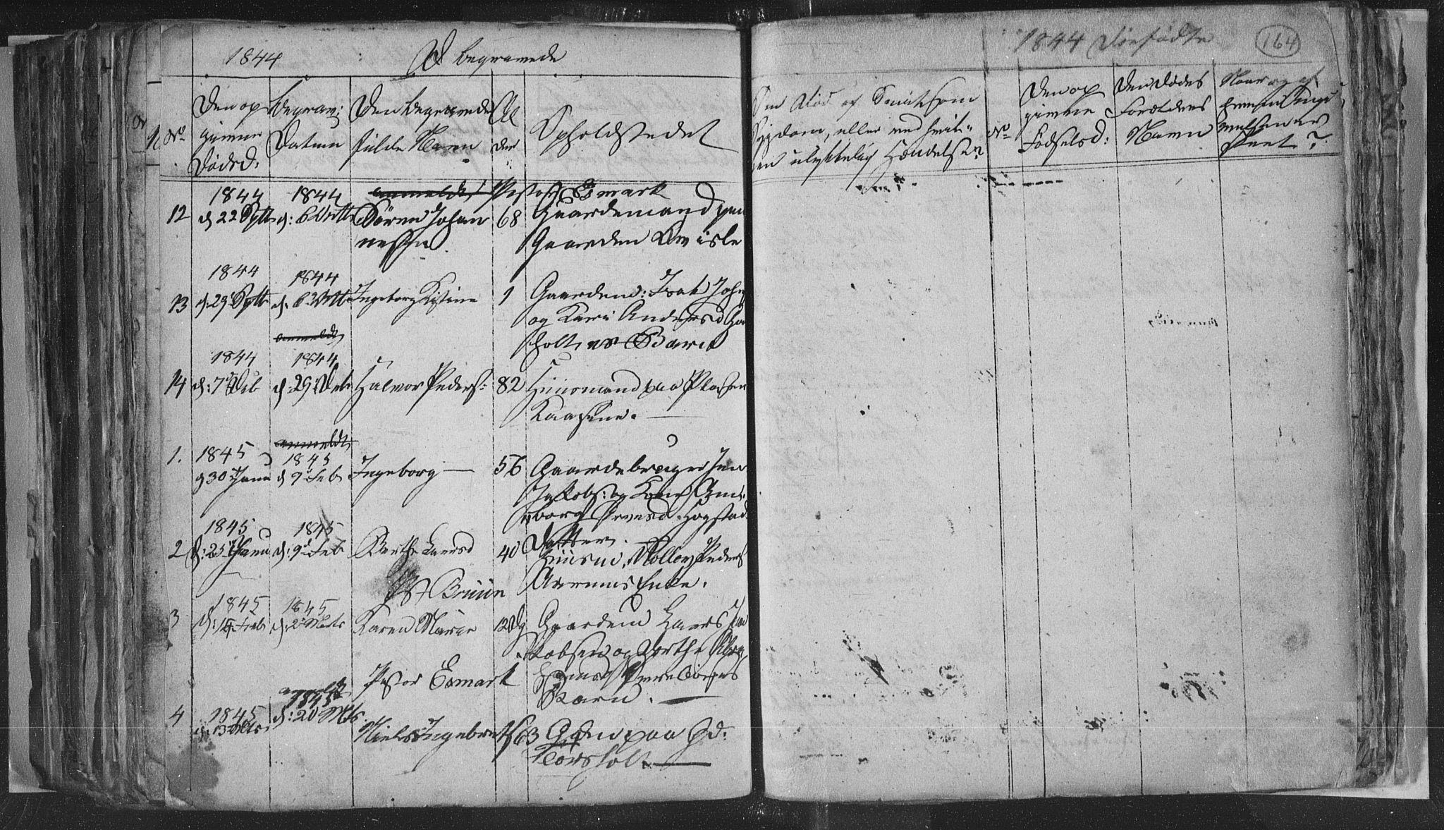 SAKO, Siljan kirkebøker, G/Ga/L0001: Klokkerbok nr. 1, 1827-1847, s. 164