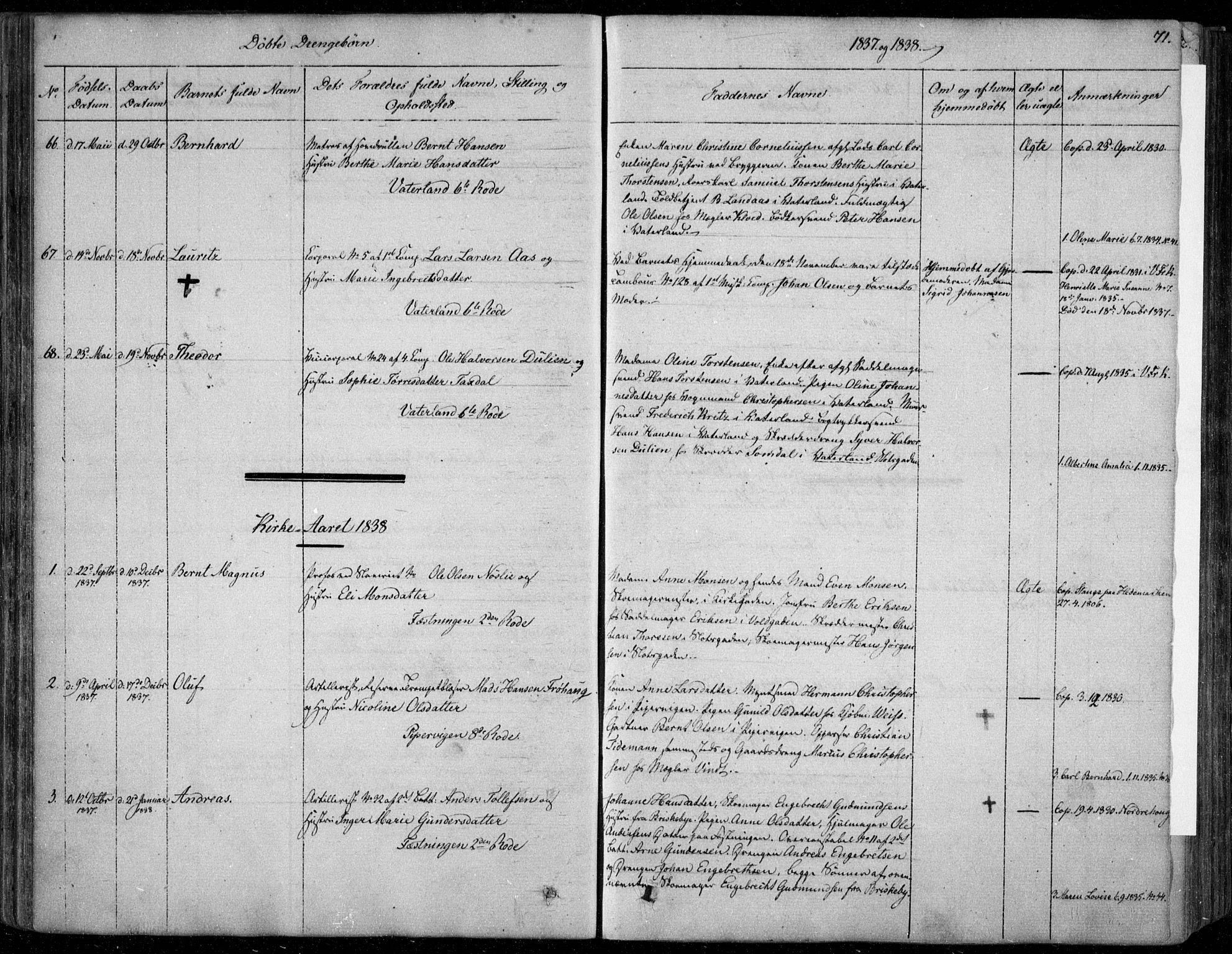 SAO, Garnisonsmenigheten Kirkebøker, F/Fa/L0006: Ministerialbok nr. 6, 1828-1841, s. 71