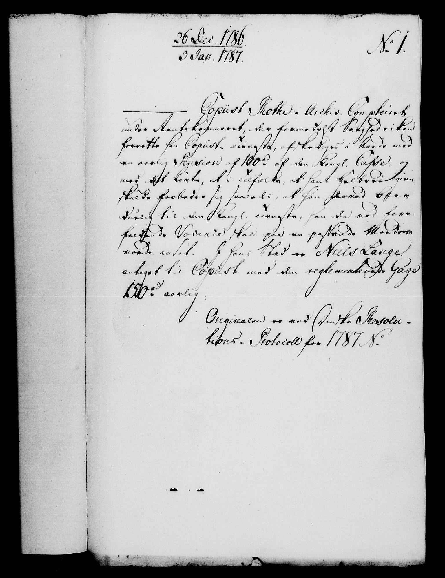 RA, Rentekammeret, Kammerkanselliet, G/Gf/Gfa/L0069: Norsk relasjons- og resolusjonsprotokoll (merket RK 52.69), 1787, s. 30